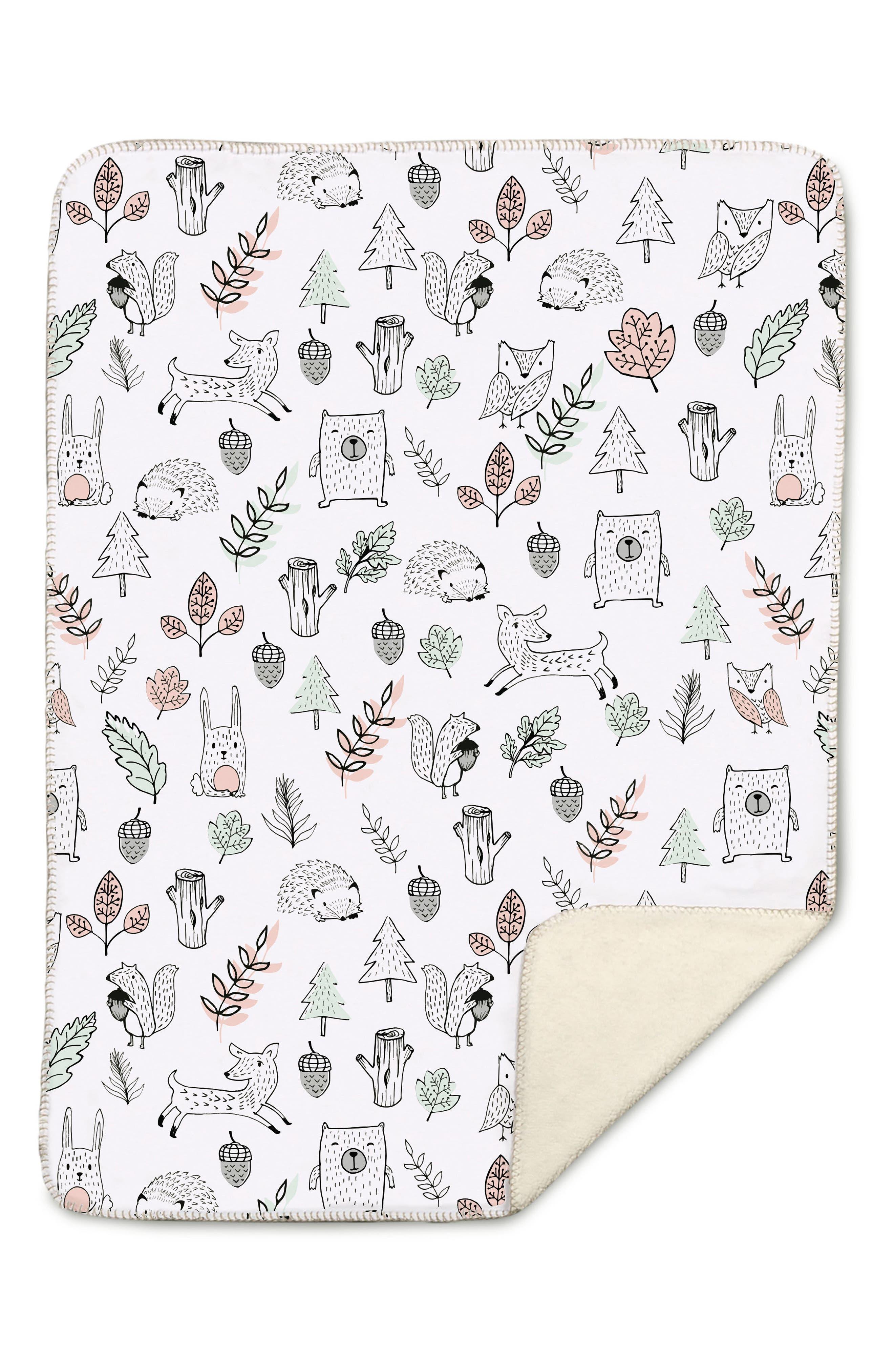 Kayden Woodlands Blanket,                         Main,                         color, 100