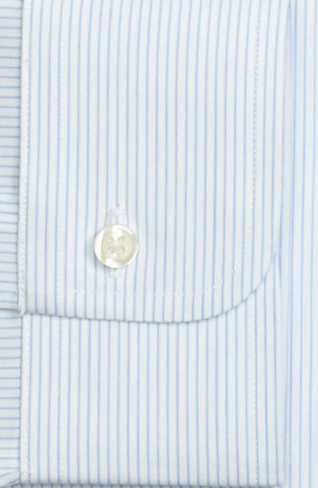 Regular Fit Stripe Dress Shirt,                             Alternate thumbnail 2, color,                             LIGHT/ PASTEL BLUE