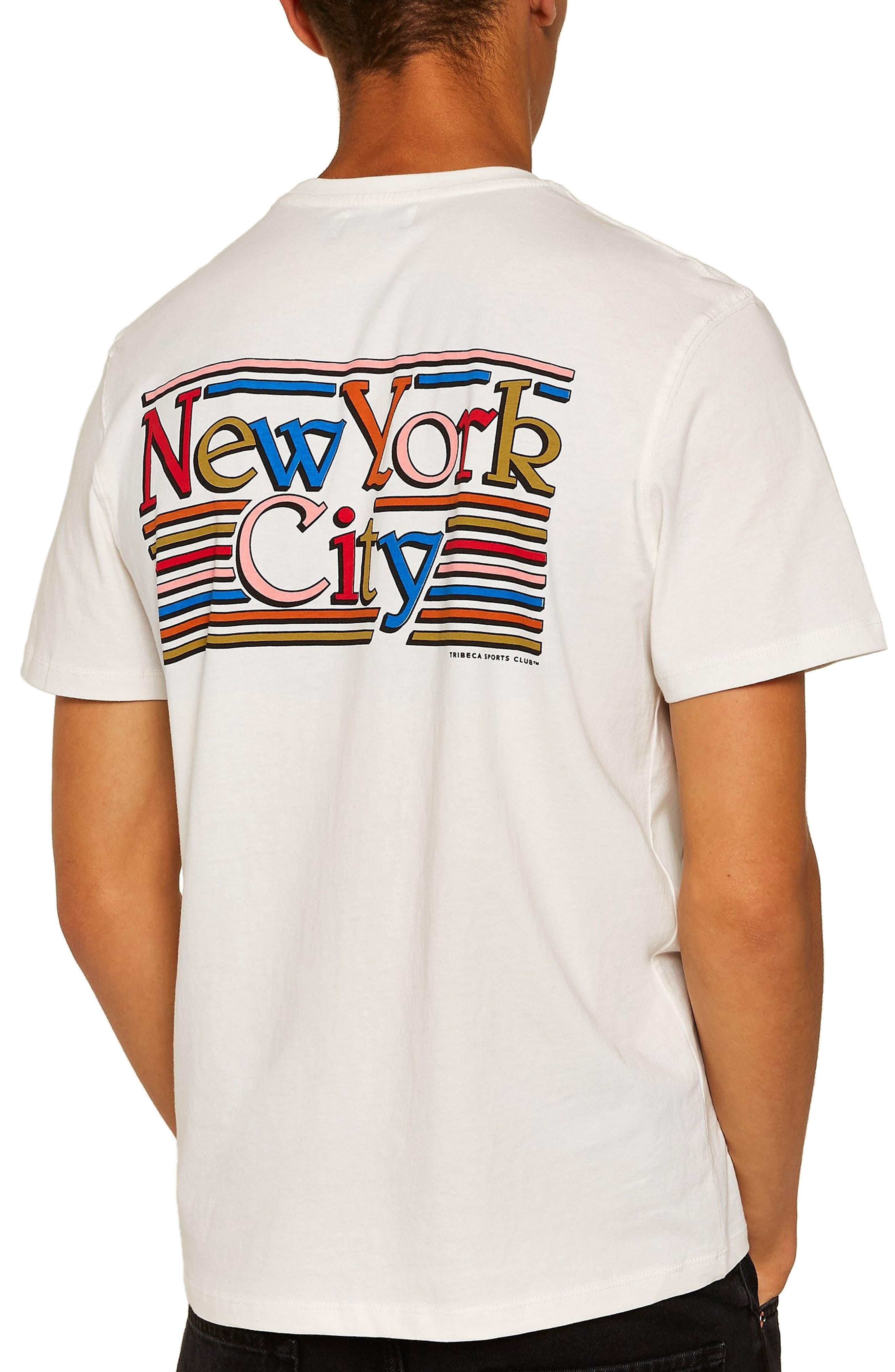 New York City Graphic T-Shirt,                             Alternate thumbnail 2, color,                             CREAM