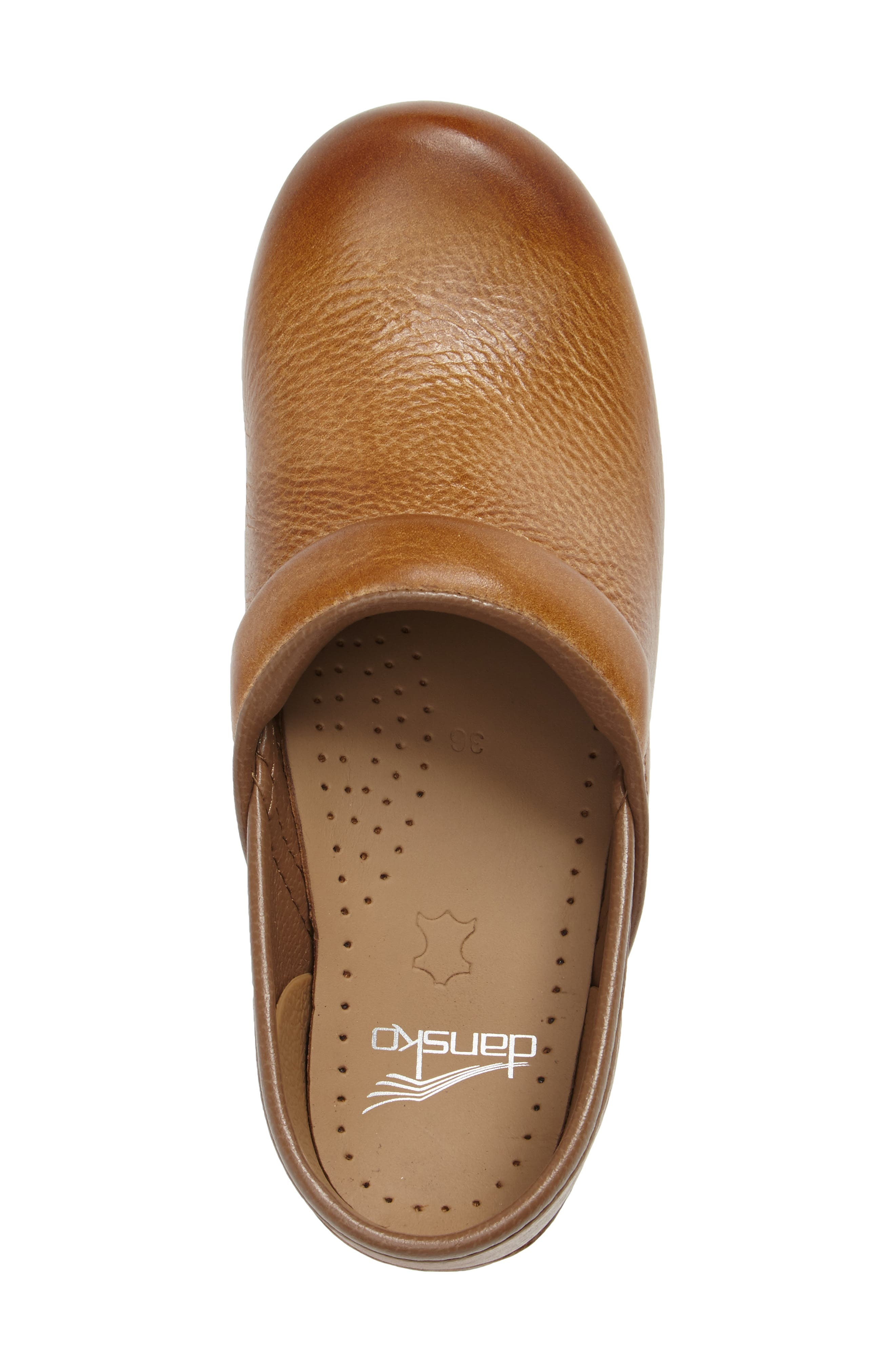 Distressed Professional Clog,                             Alternate thumbnail 3, color,                             HONEY LEATHER