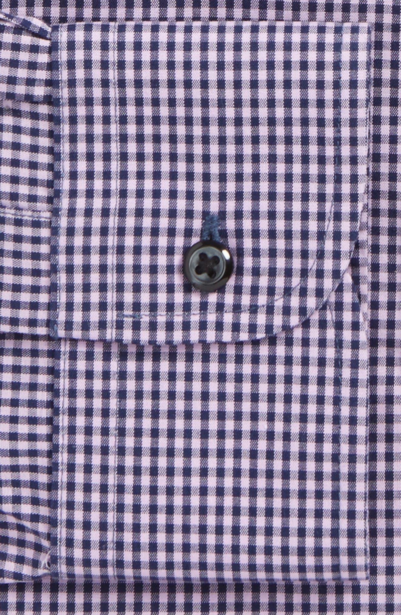 Smartcare Classic Fit Check Dress Shirt,                             Alternate thumbnail 23, color,