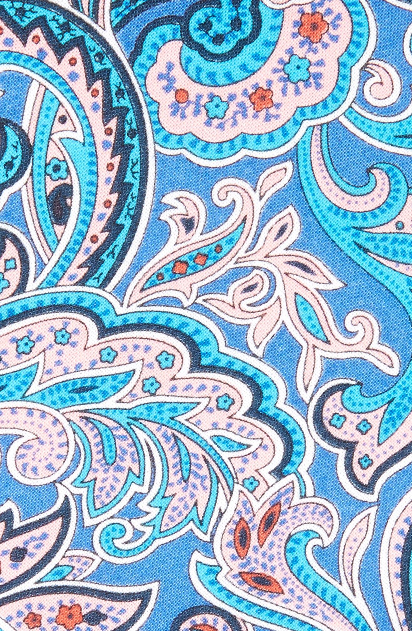 Paisley Cotton Skinny Tie,                             Alternate thumbnail 3, color,