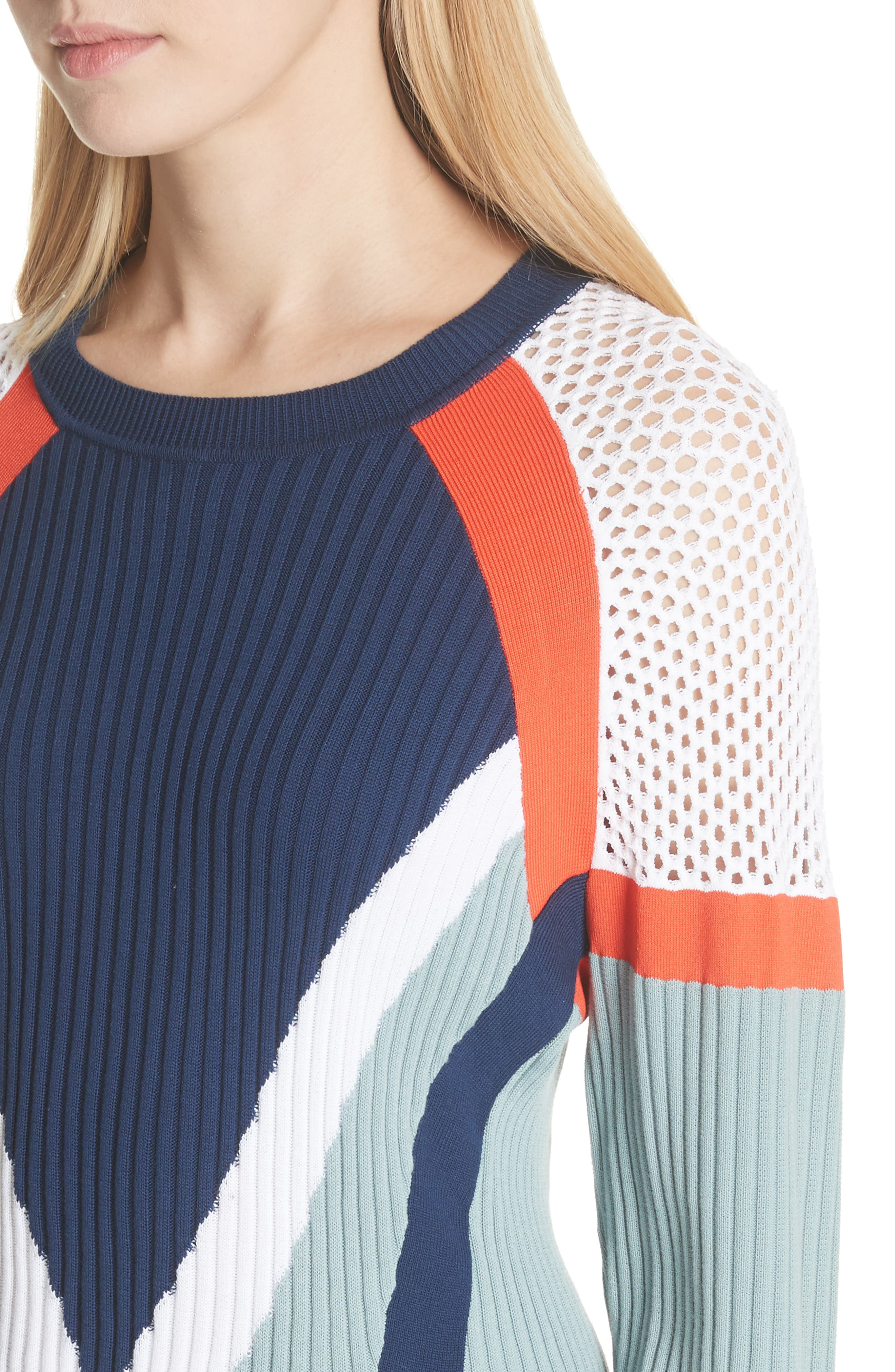 Lark Colorblock Crop Sweater,                             Alternate thumbnail 4, color,                             463