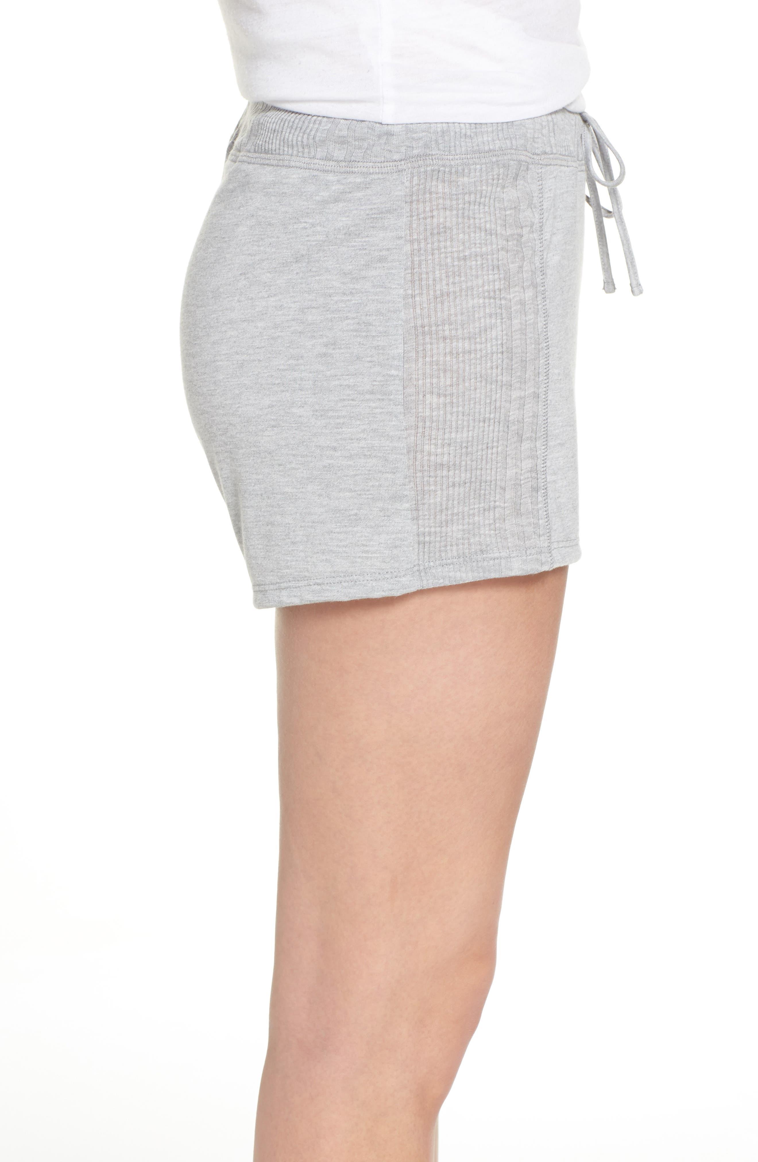Pajama Shorts,                             Alternate thumbnail 3, color,                             LIGHT HEATHER GREY