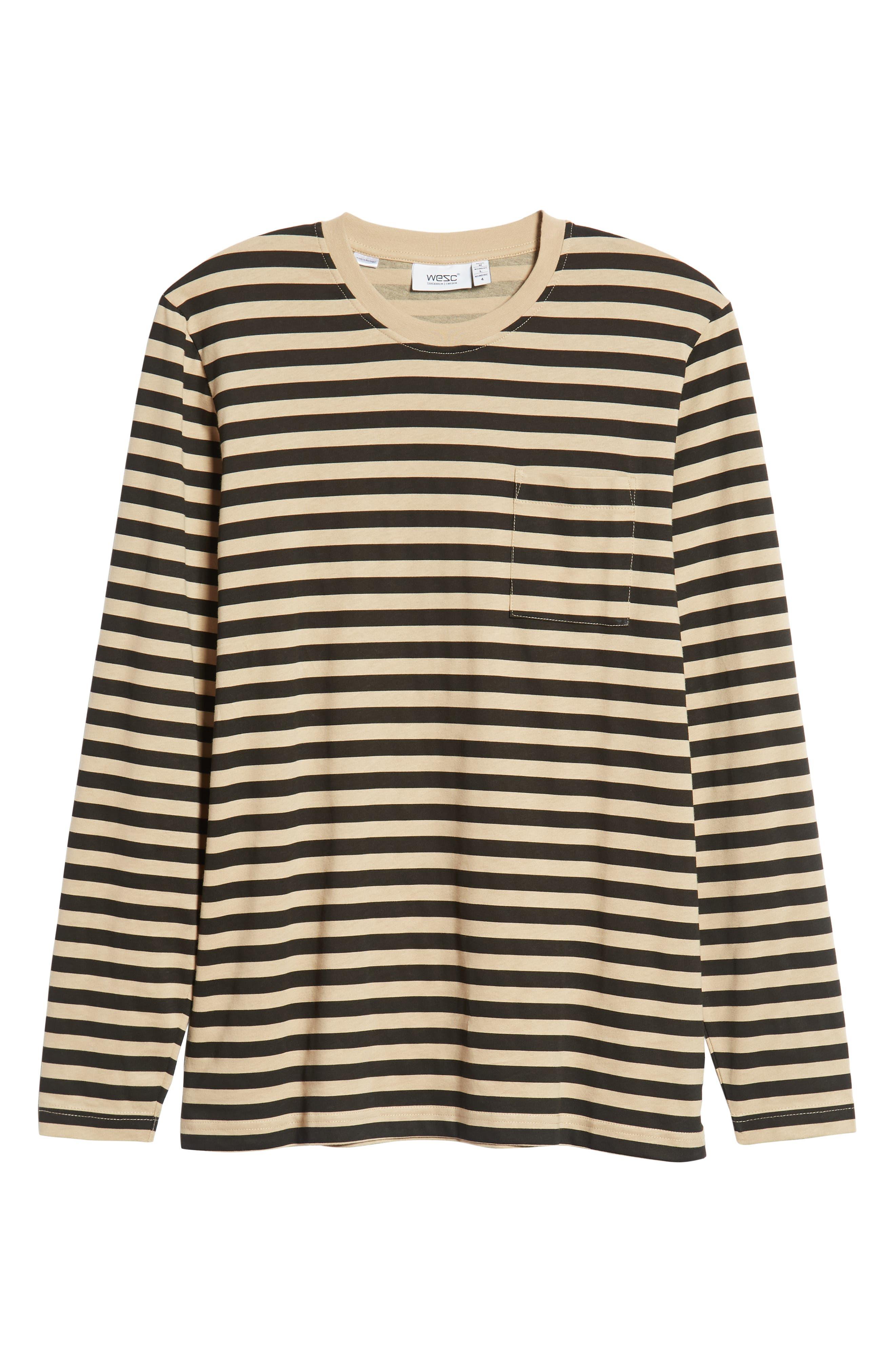 Makai Stripe Long Sleeve Pocket T-Shirt,                             Alternate thumbnail 6, color,                             271
