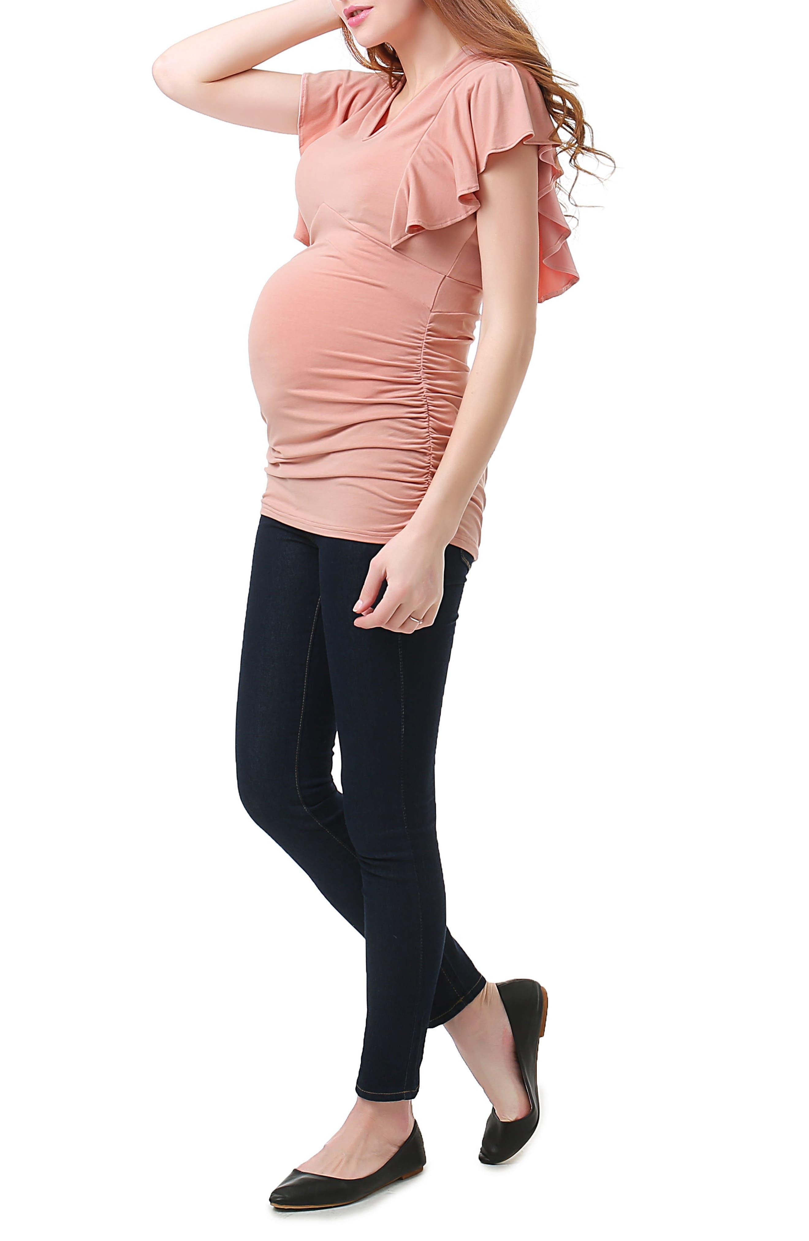 Kimi & Kai Kayla Maternity Top,                             Alternate thumbnail 3, color,                             650