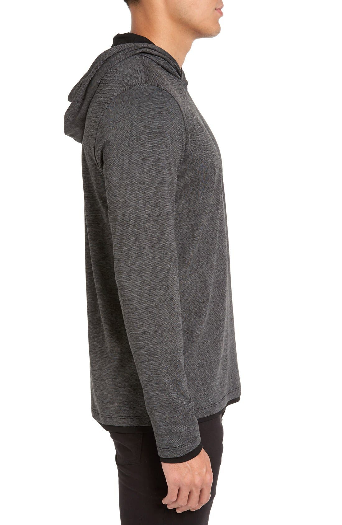 Lightweight Double Layer Hoodie,                             Alternate thumbnail 2, color,                             001