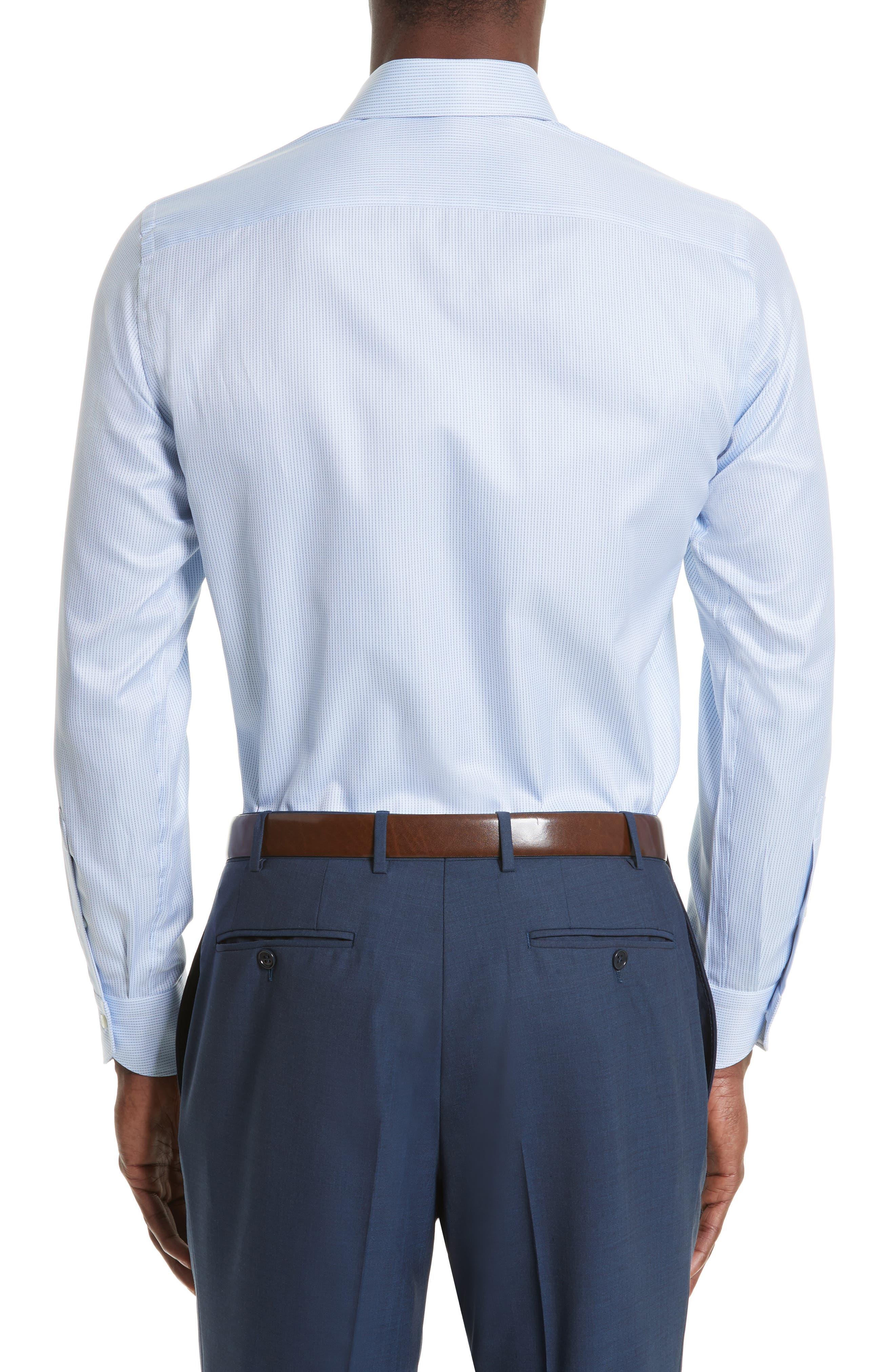 Regular Fit Stripe Dress Shirt,                             Alternate thumbnail 2, color,