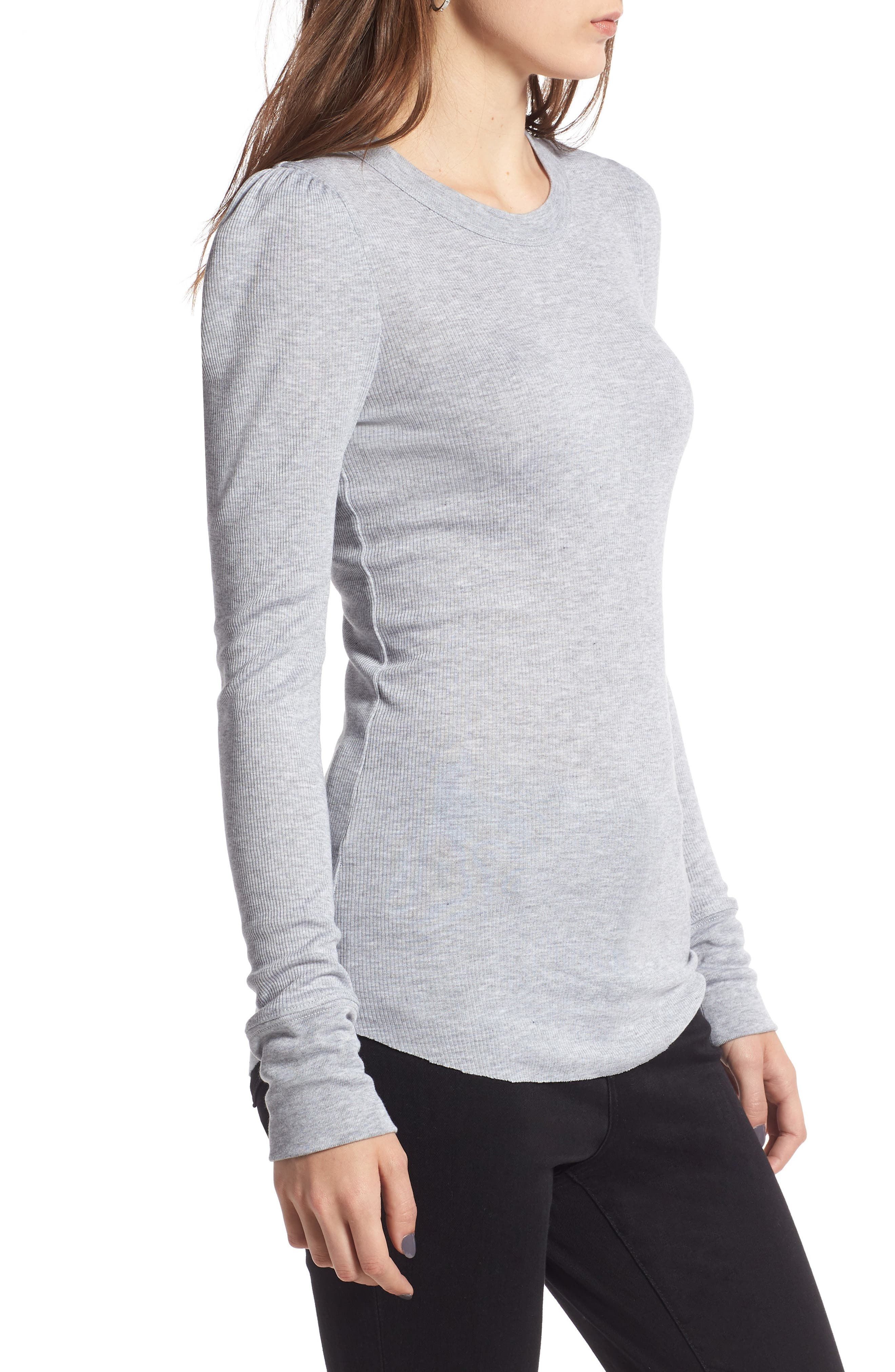 Puff Shoulder Tee,                             Alternate thumbnail 3, color,                             030