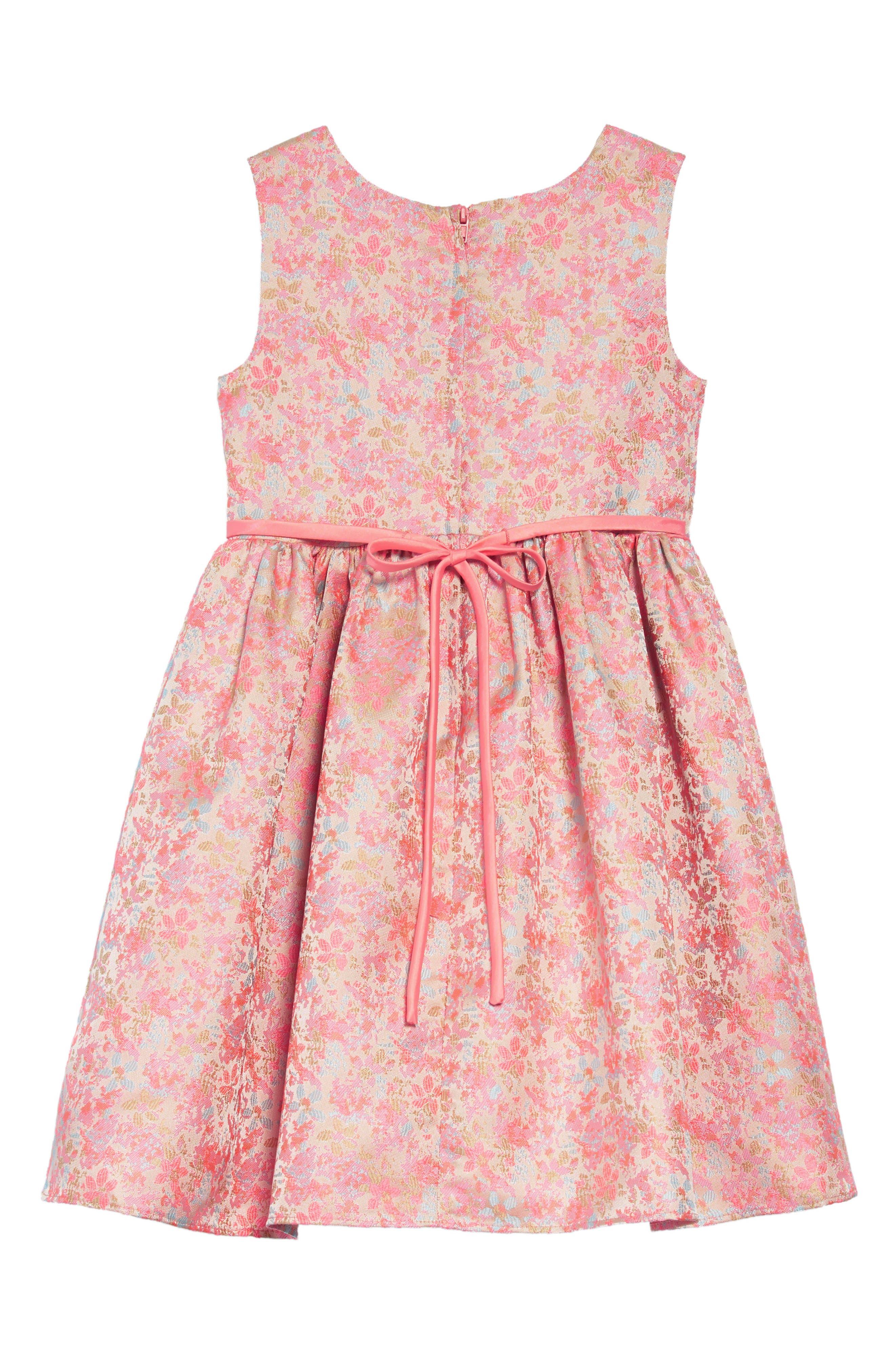 Summer Floral Jacquard Dress,                             Alternate thumbnail 2, color,