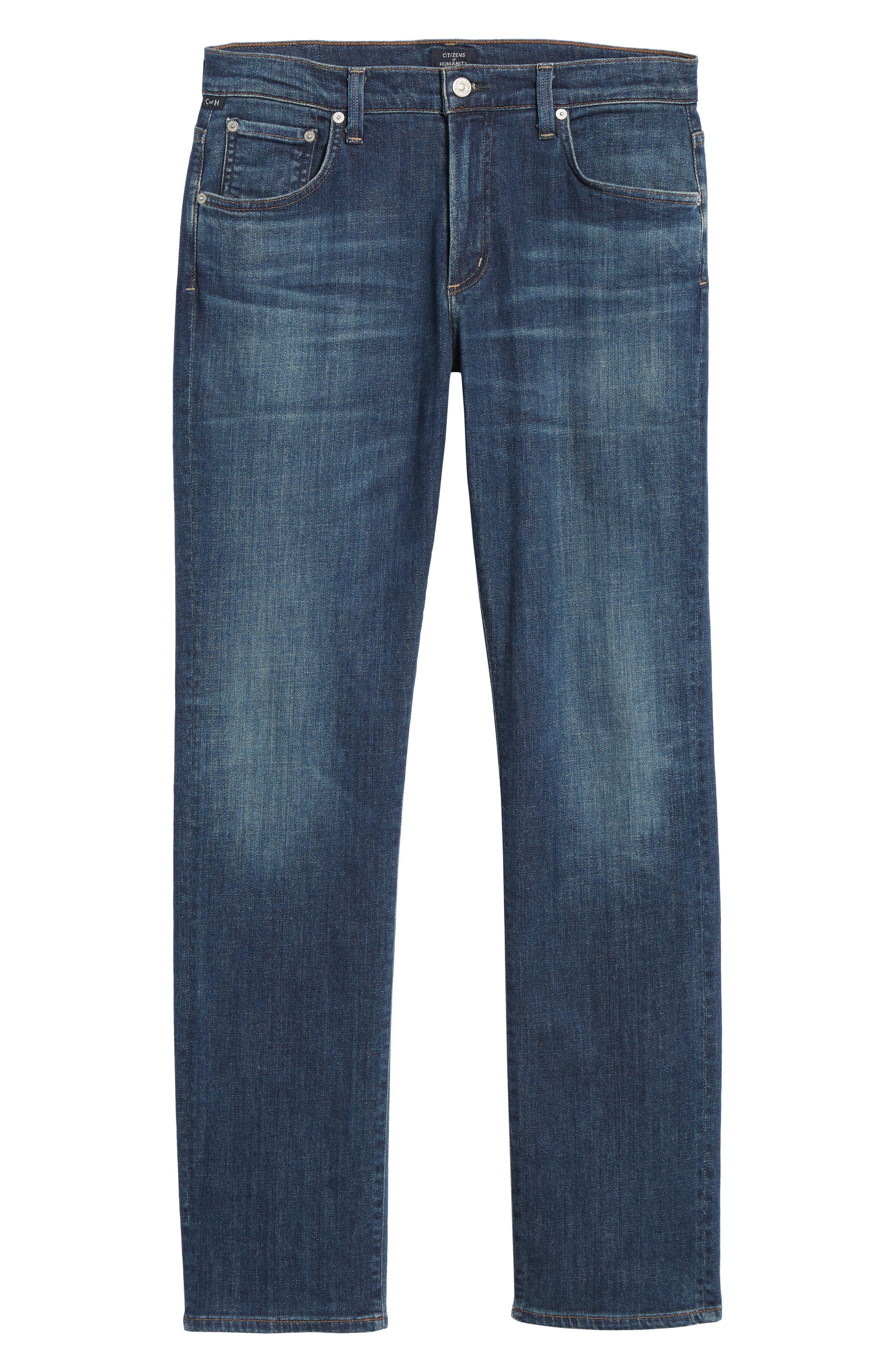 Gage Slim Straight Leg Jeans,                             Alternate thumbnail 6, color,                             EUGENE