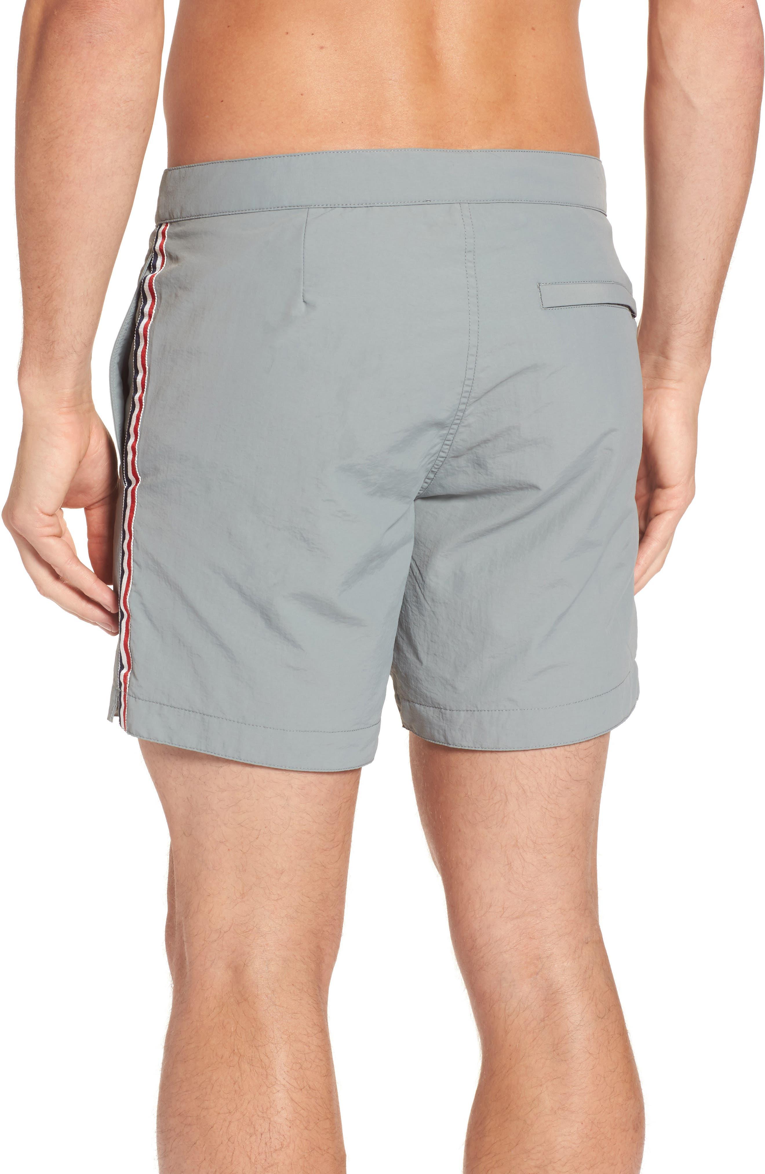 Aruba Tailored Fit French Stripe Swim Trunks,                             Alternate thumbnail 3, color,