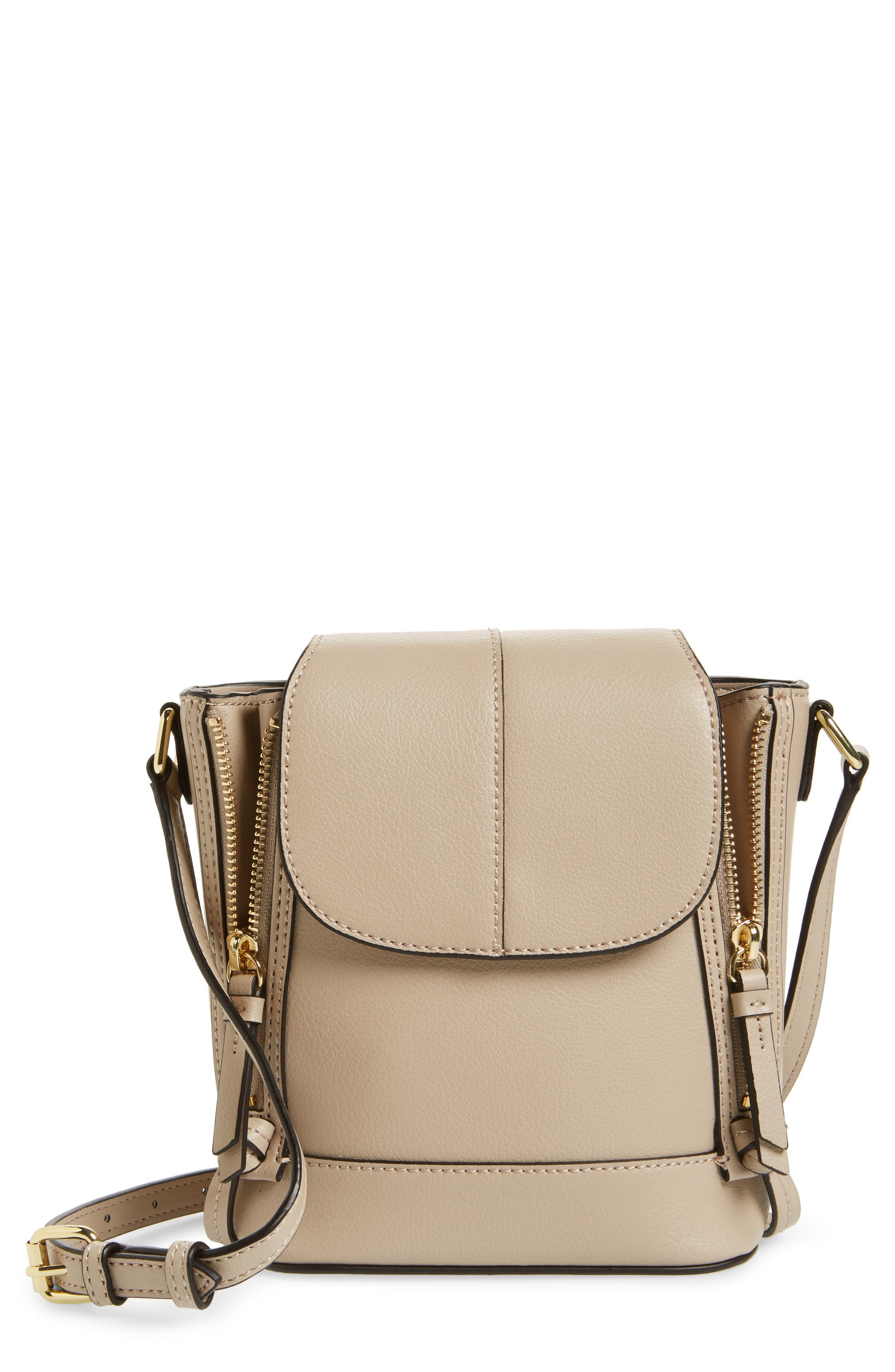 Beckett Leather Crossbody Bag,                             Main thumbnail 1, color,                             250
