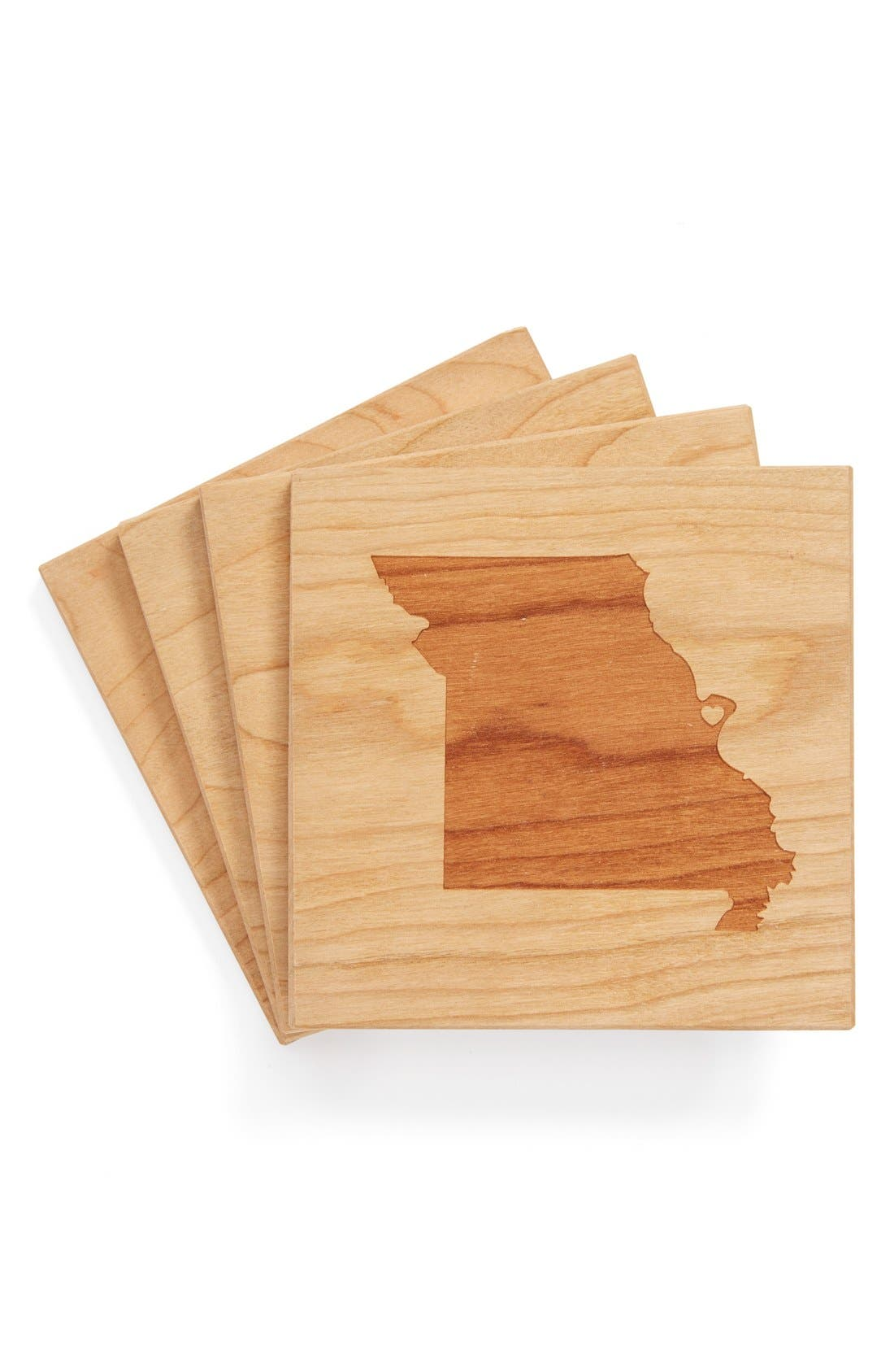 'State Silhouette' Coasters,                             Main thumbnail 28, color,