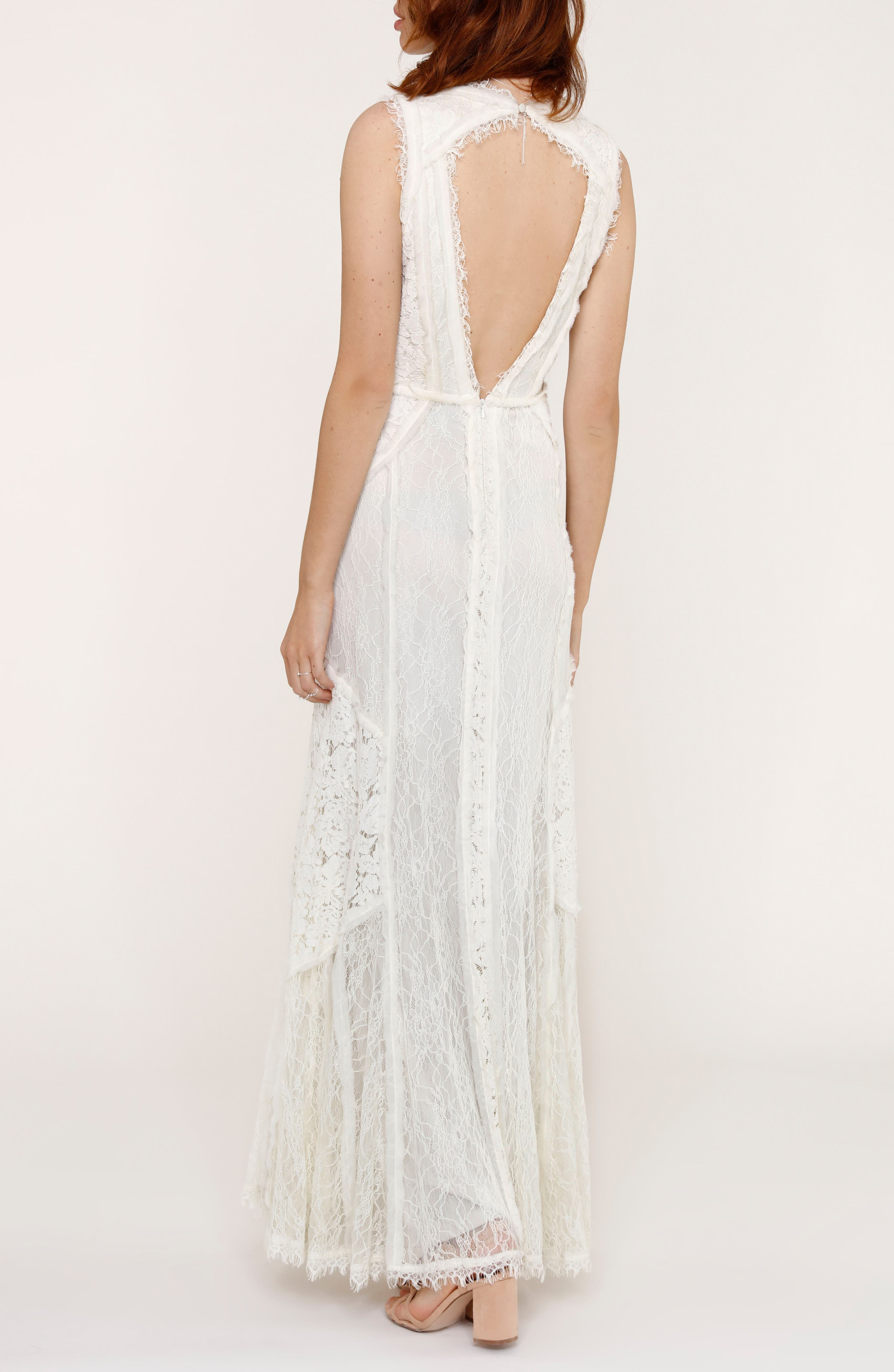 Felix Cutout Back Lace Fit & Flare Dress,                             Alternate thumbnail 2, color,                             101