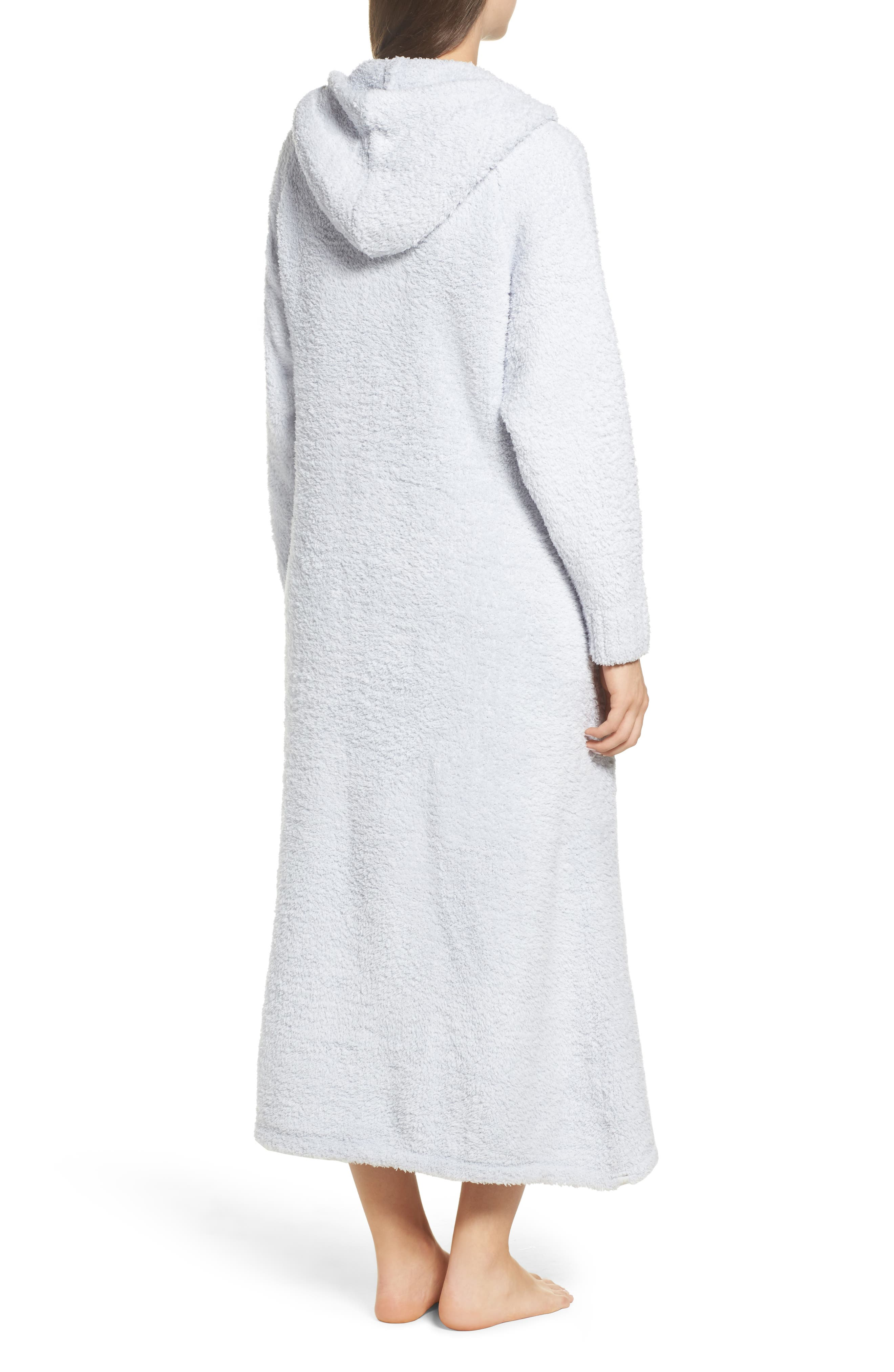 CozyChic<sup>®</sup> Hooded Zip Robe,                             Alternate thumbnail 2, color,                             BLUE
