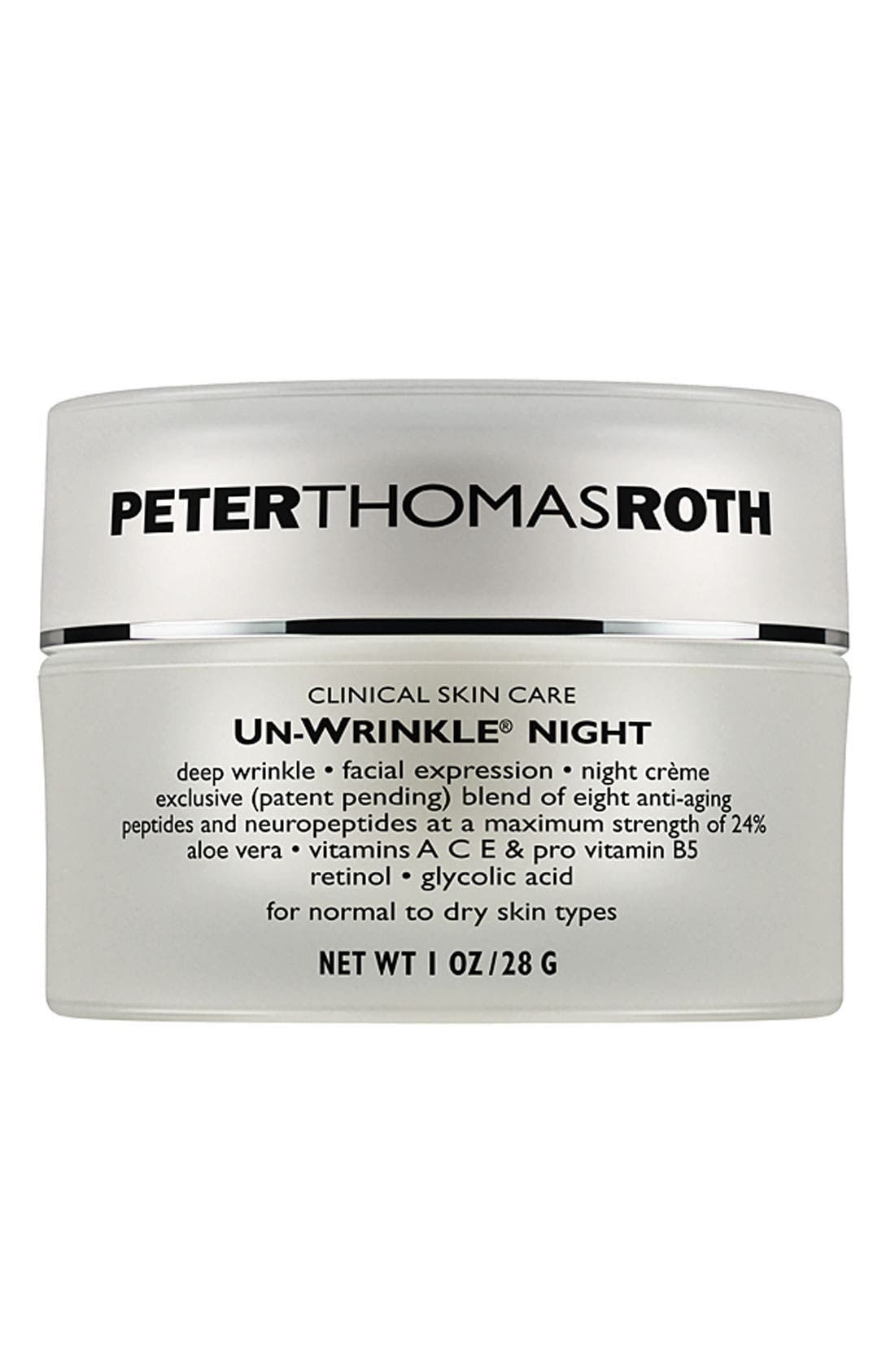 'Un-Wrinkle<sup>®</sup>' Night Crème,                             Main thumbnail 1, color,                             NO COLOR