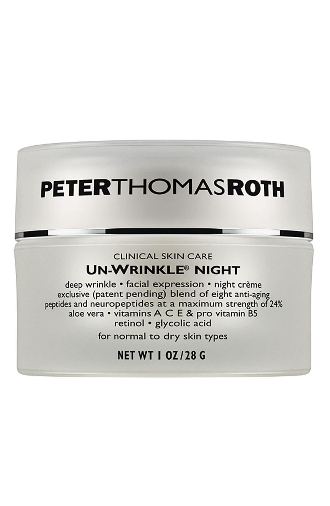 'Un-Wrinkle<sup>®</sup>' Night Crème,                         Main,                         color, NO COLOR