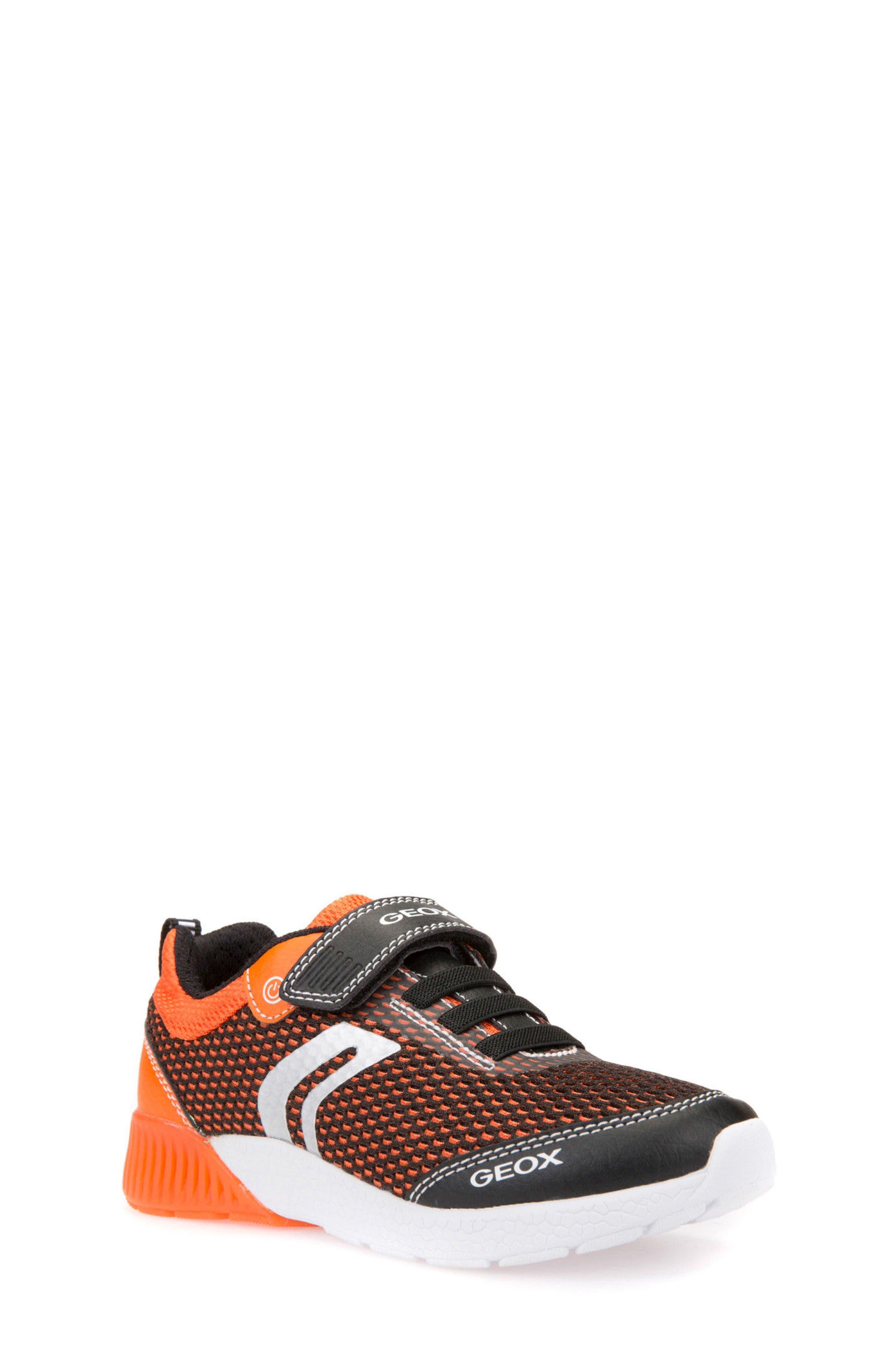 Sveth Light-Up Sneaker,                             Main thumbnail 1, color,                             BLACK/ ORANGE