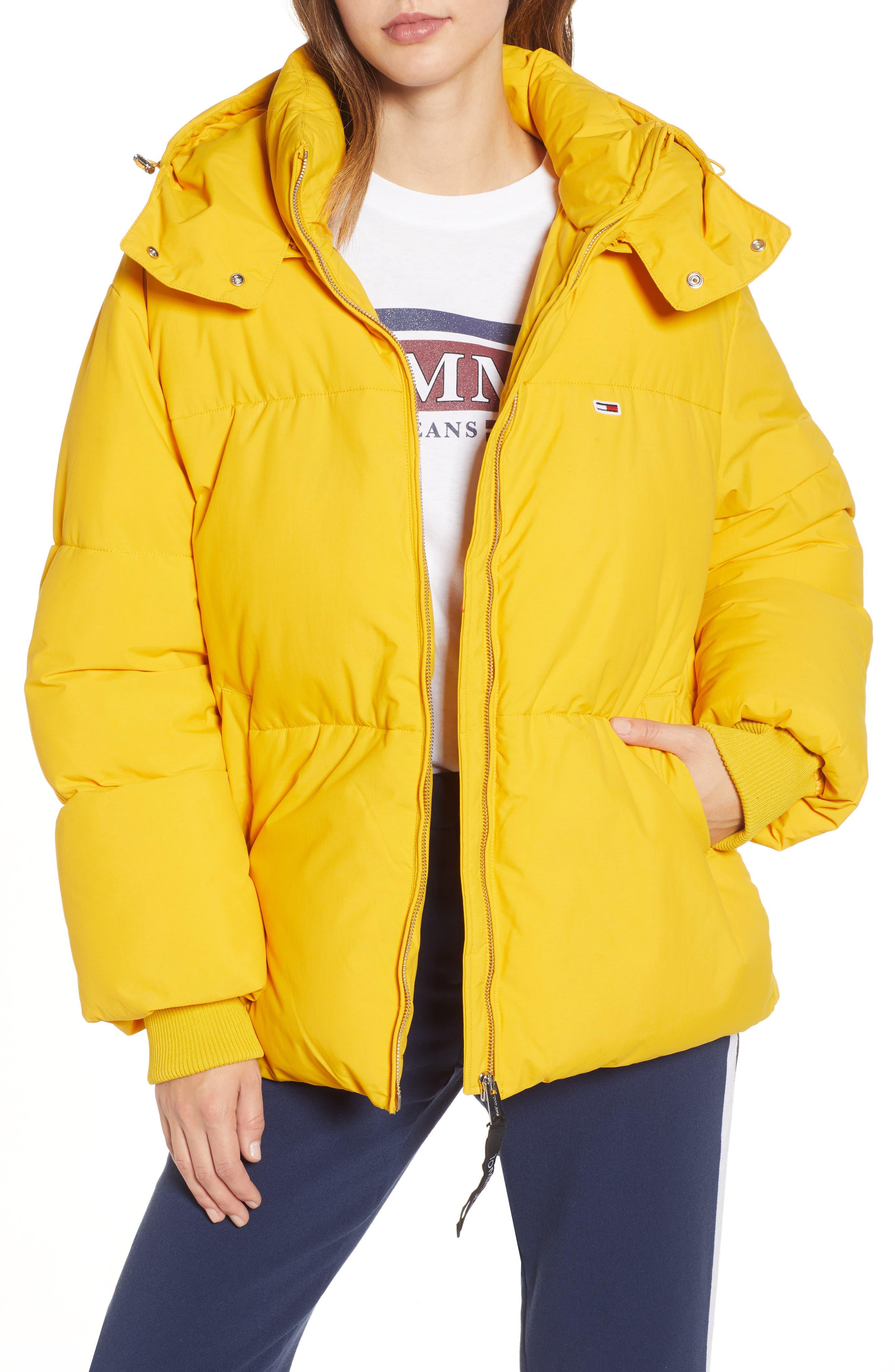 TJW Oversized Puffer Jacket,                             Main thumbnail 1, color,                             MANGO MOJITO