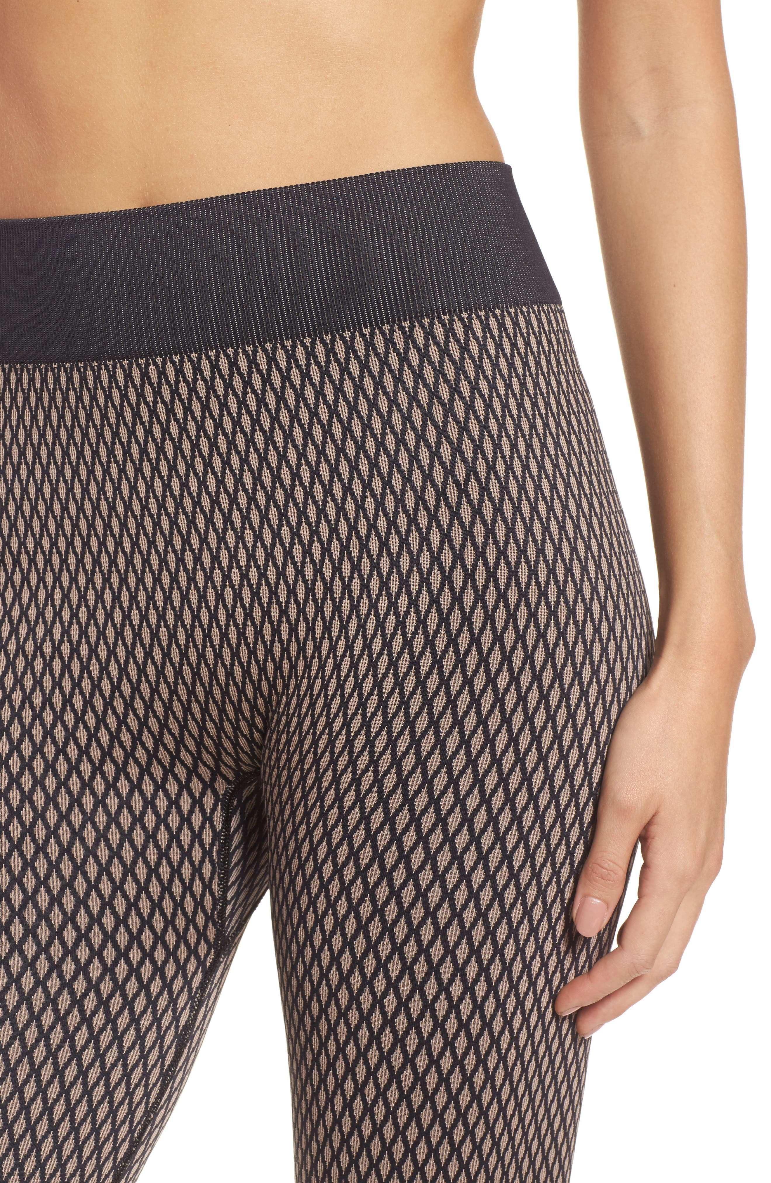 Fishnet Seamless Leggings,                             Alternate thumbnail 4, color,                             001