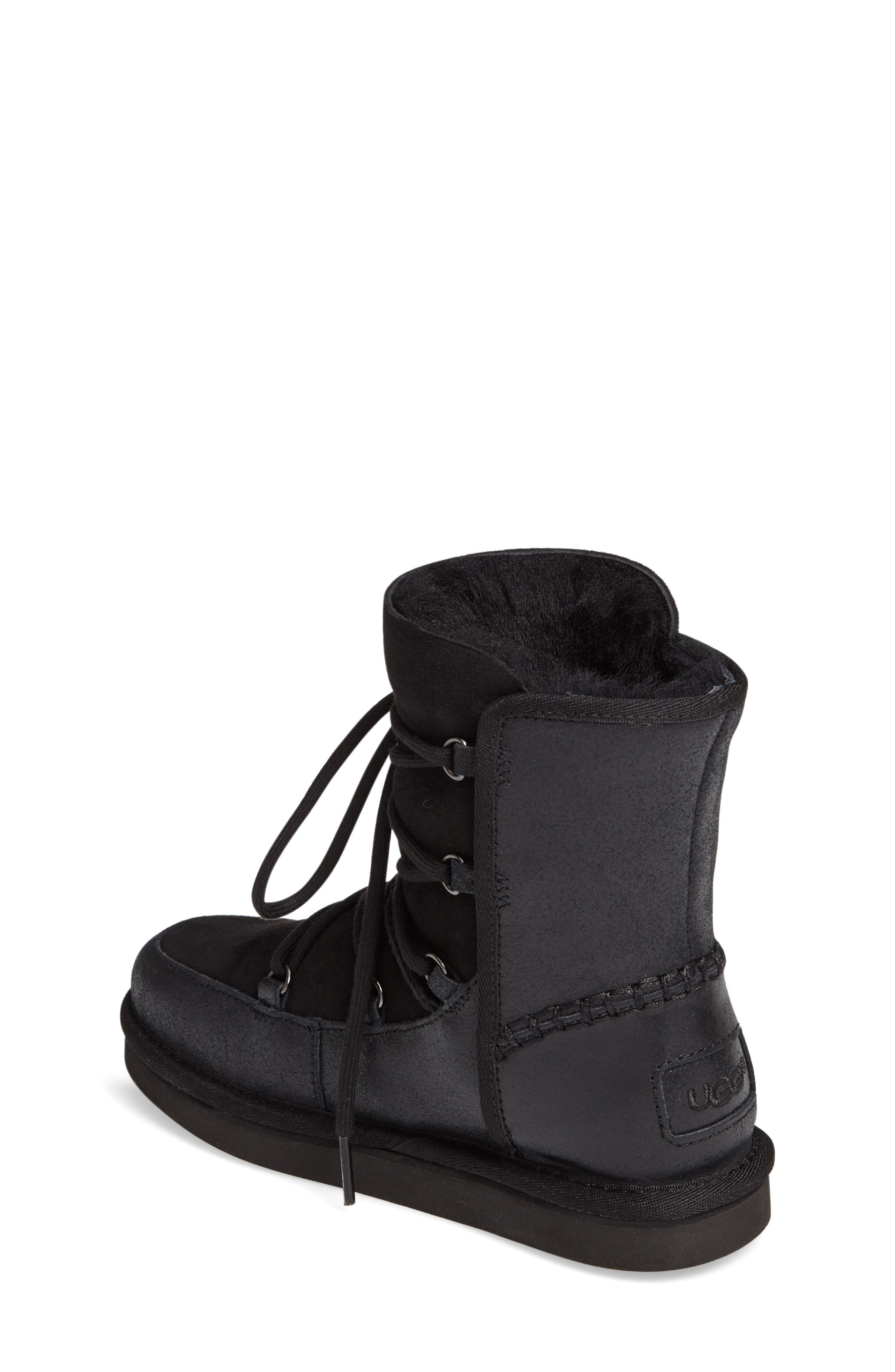 Eliss Water Resistant Suede Boot,                             Alternate thumbnail 2, color,                             001