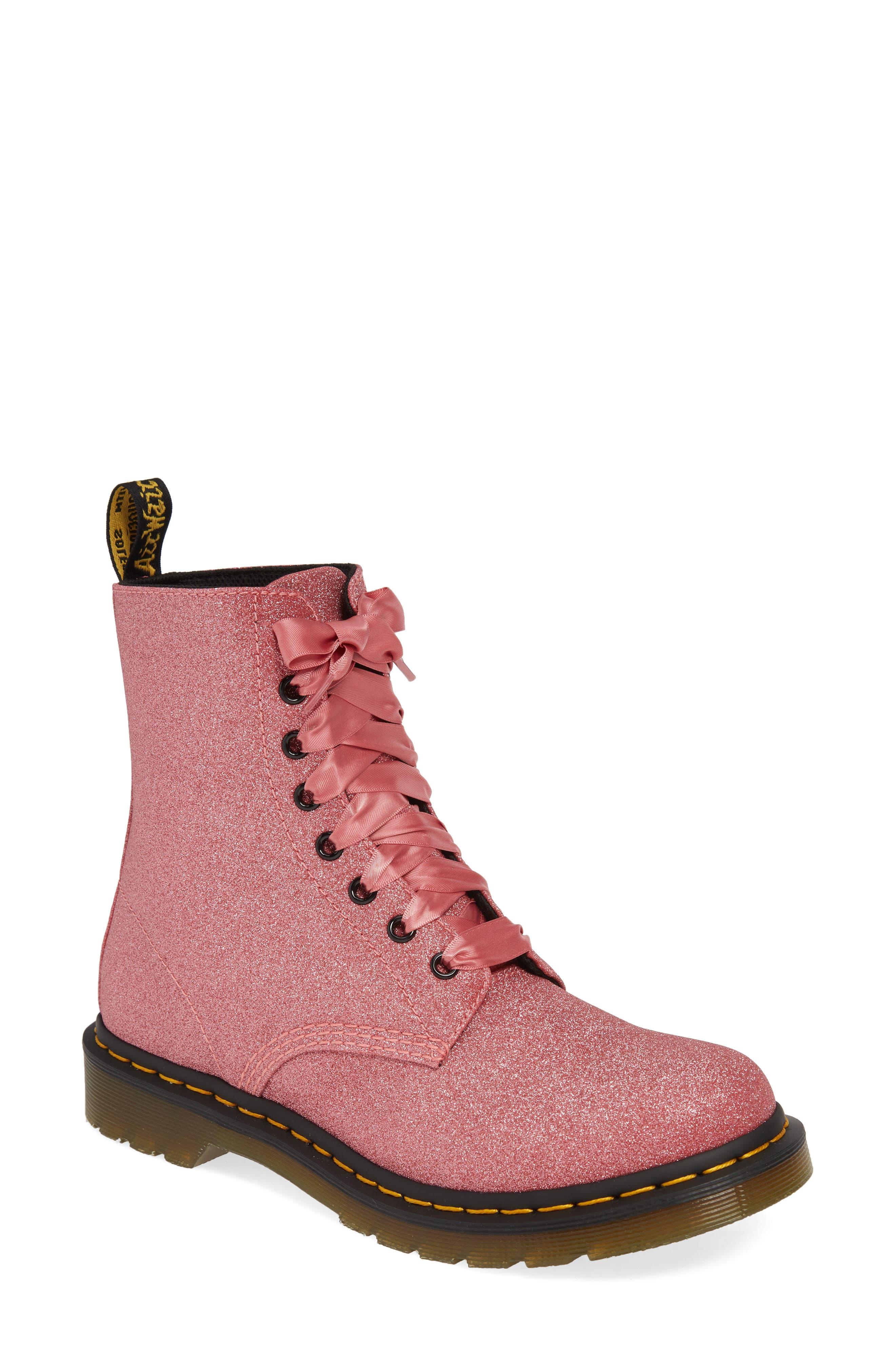 Dr. Martens 1460 Pascal Glitter Boot, US/ 7UK - Pink