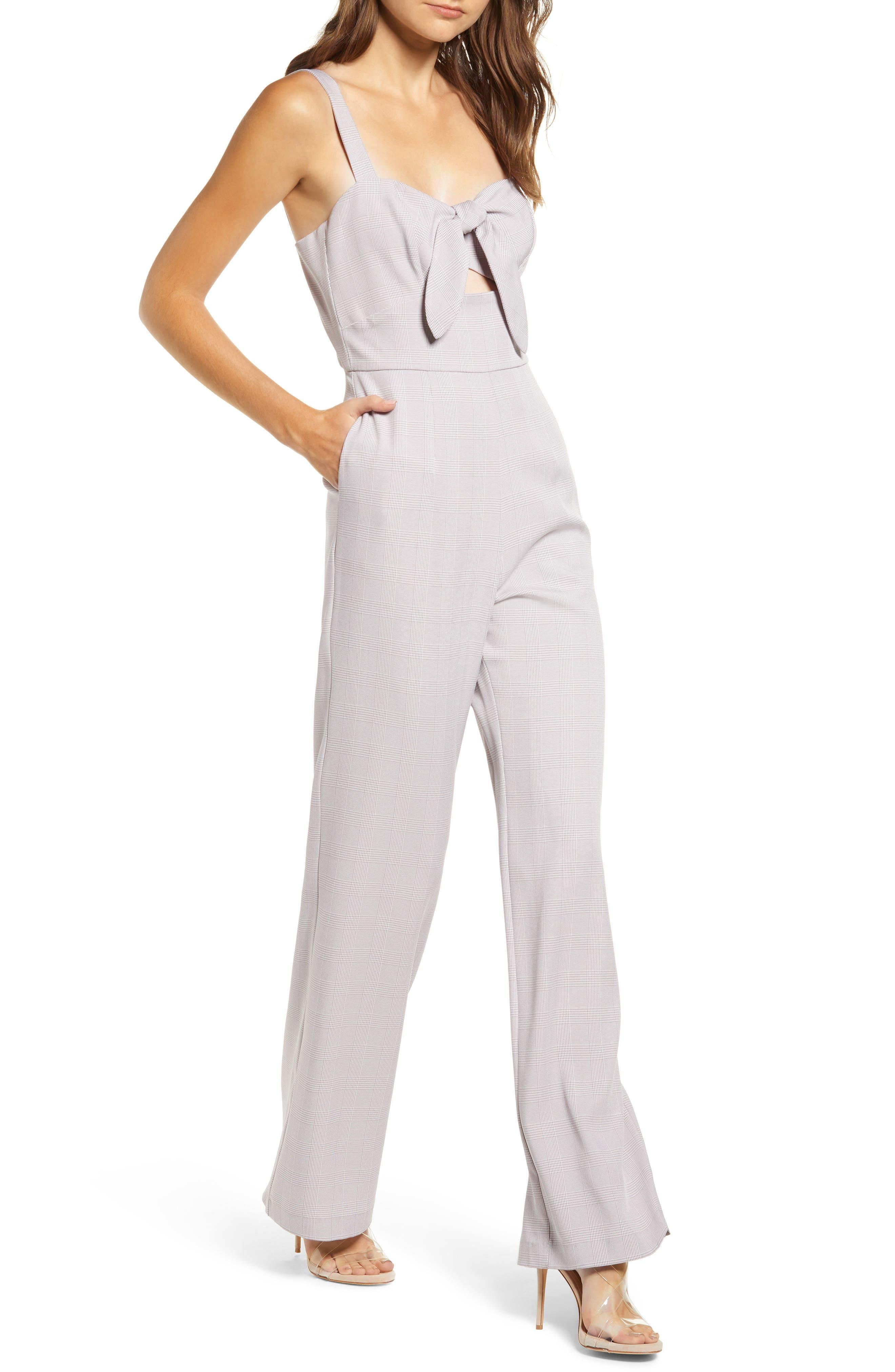 Roxy Glen Plaid Jumpsuit,                             Main thumbnail 1, color,                             500