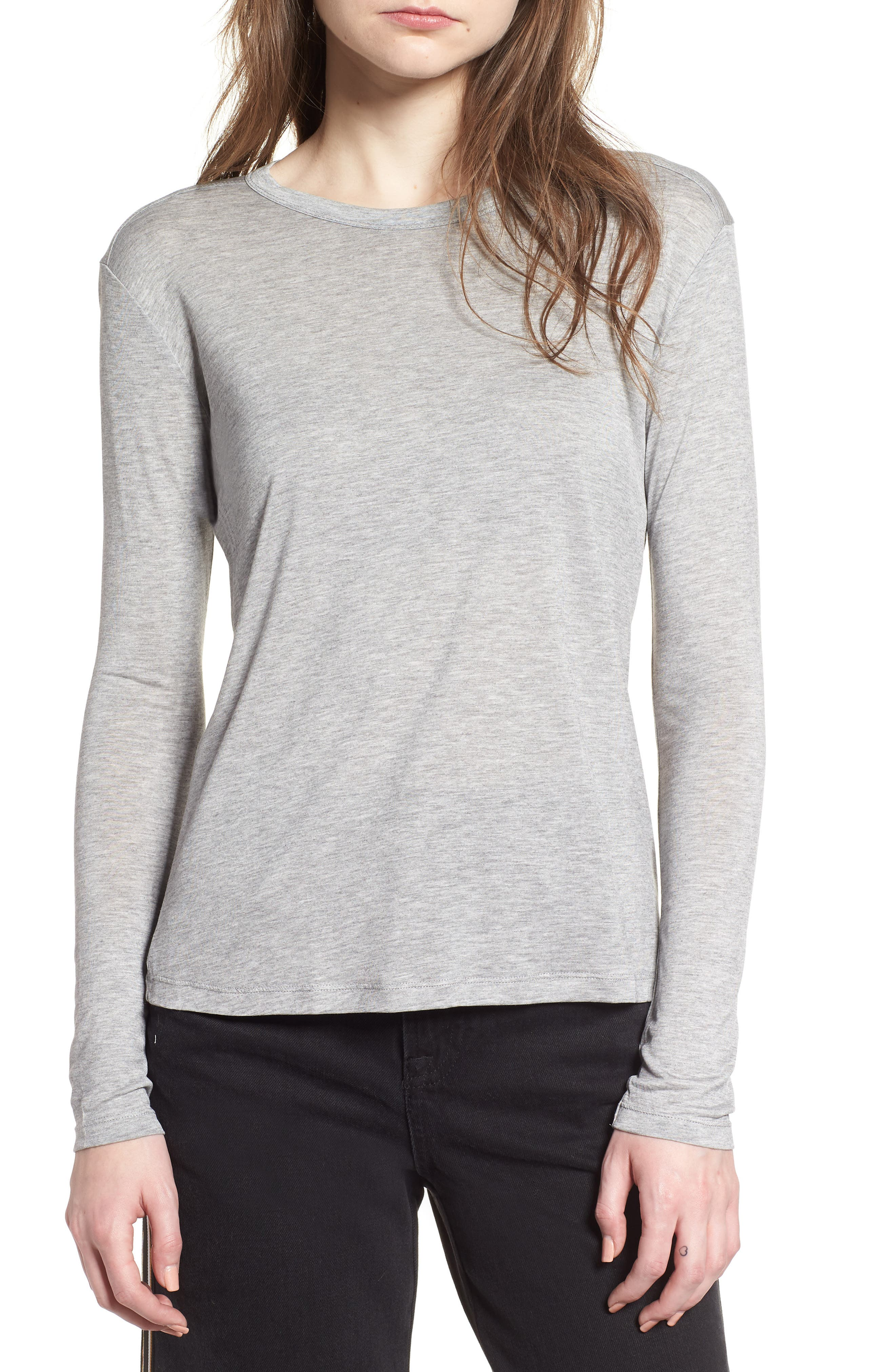 Lyocell Long Sleeve T-Shirt,                         Main,                         color,