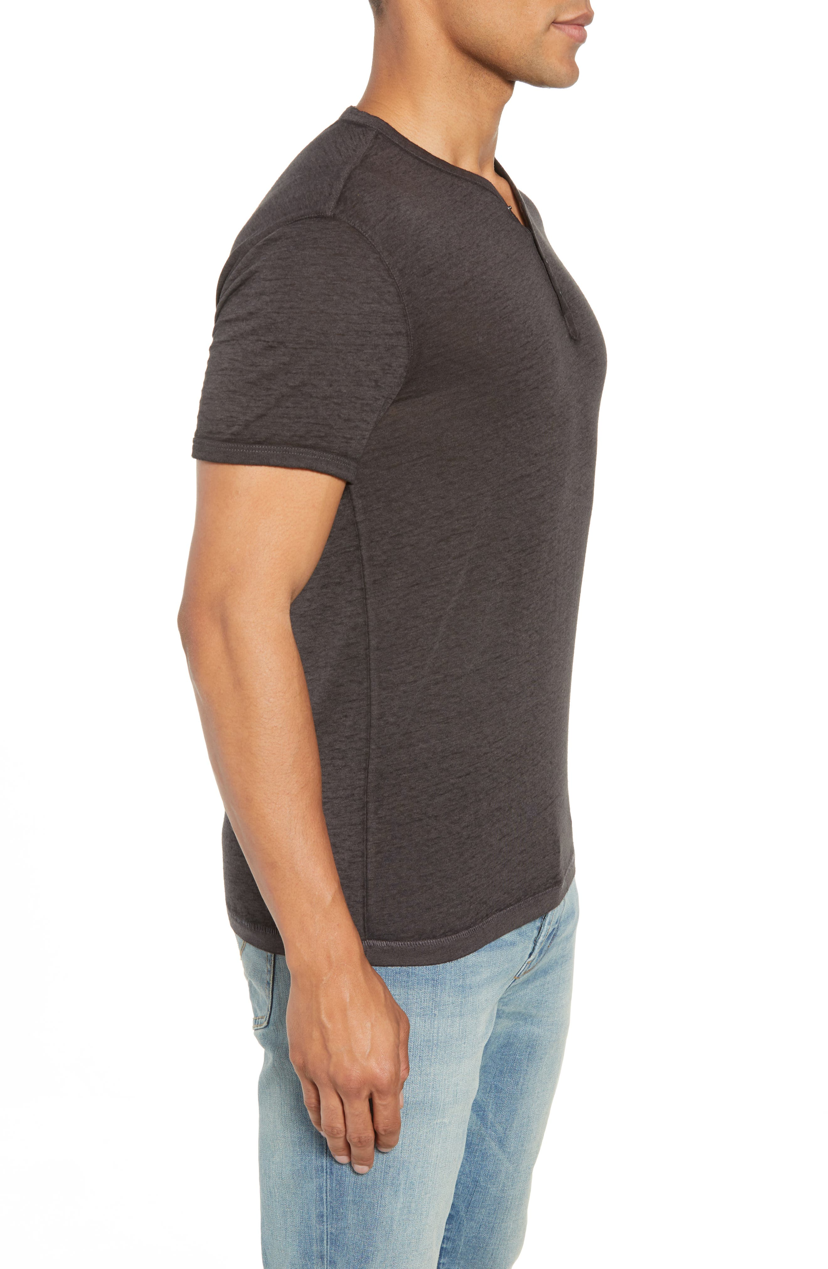 Burnout Henley T-Shirt,                             Alternate thumbnail 3, color,                             020