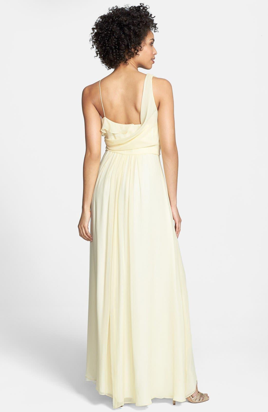 Asymmetrical Chiffon Dress,                             Alternate thumbnail 2, color,                             740