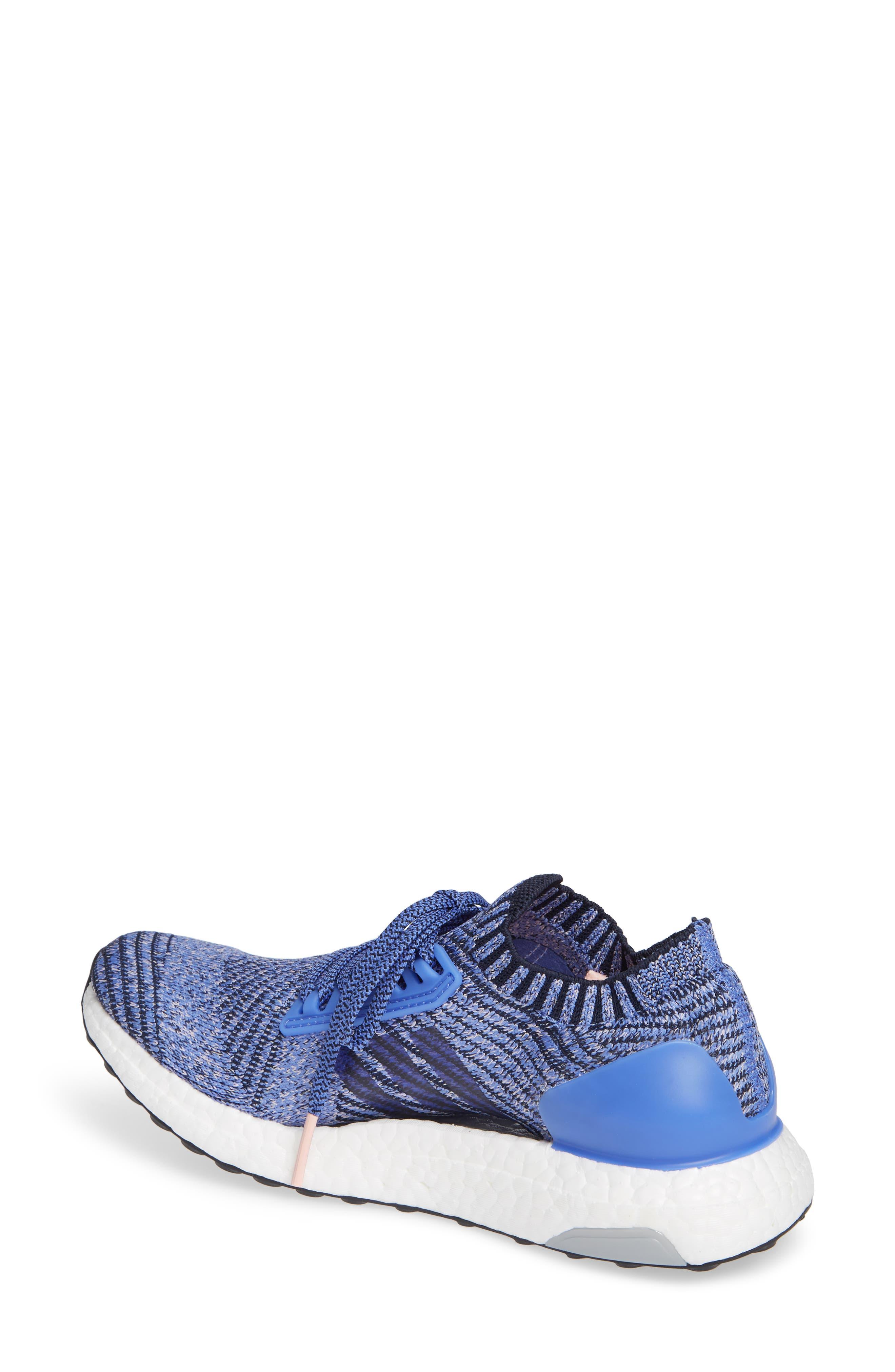 UltraBoost X Running Shoe,                             Alternate thumbnail 2, color,                             REAL LILAC/ LEGEND INK/ BLACK