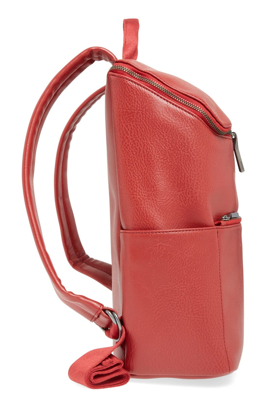 'Brave' Faux Leather Backpack,                             Alternate thumbnail 49, color,