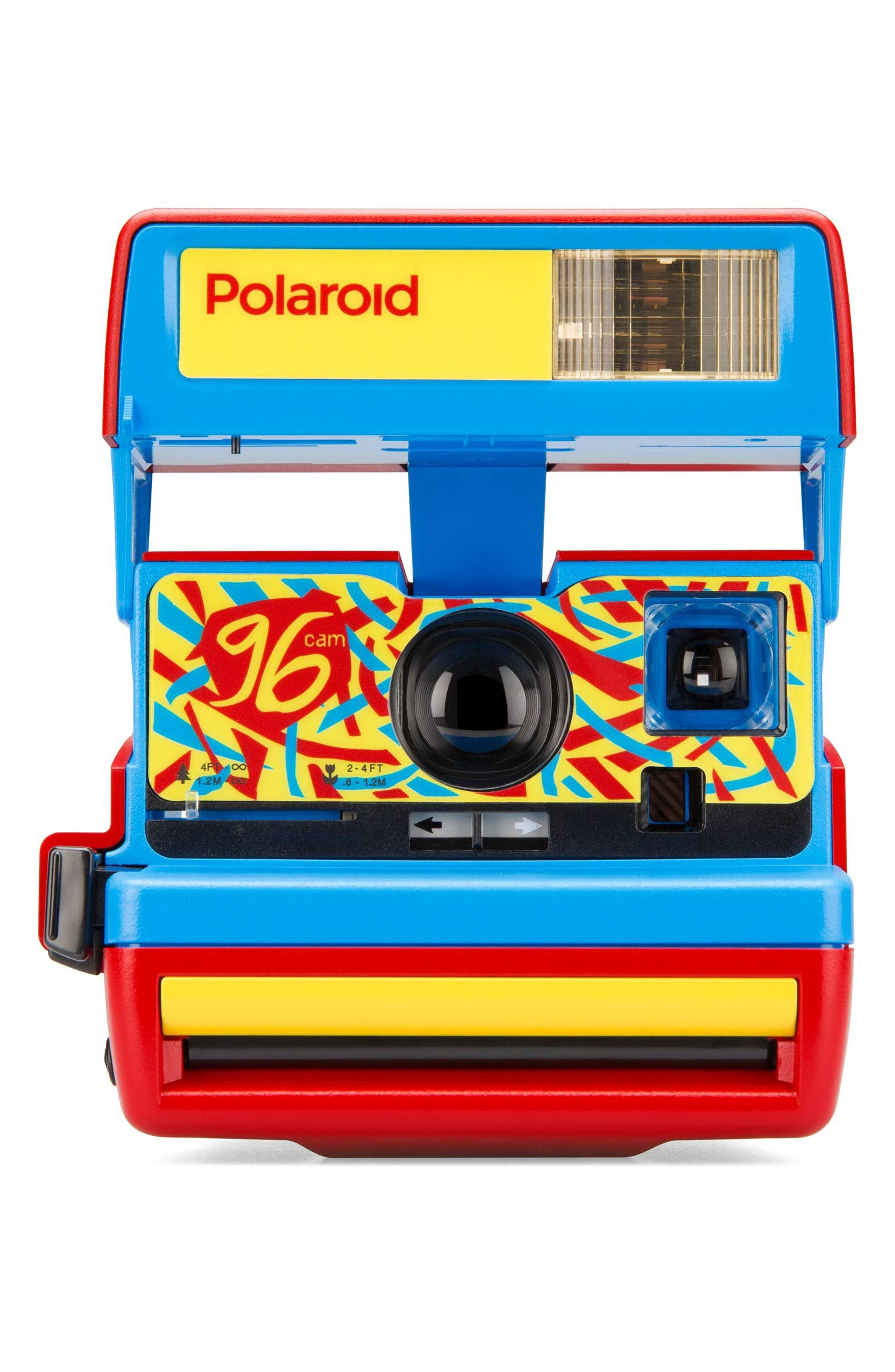 Impossible Project Polaroid 600 96 Cam Instant Camera,                             Main thumbnail 1, color,                             RED
