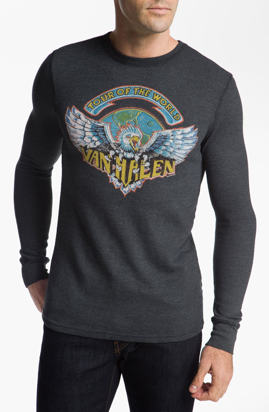CHASER,                             'Van Halen Tour of the World' Thermal T-Shirt,                             Main thumbnail 1, color,                             001