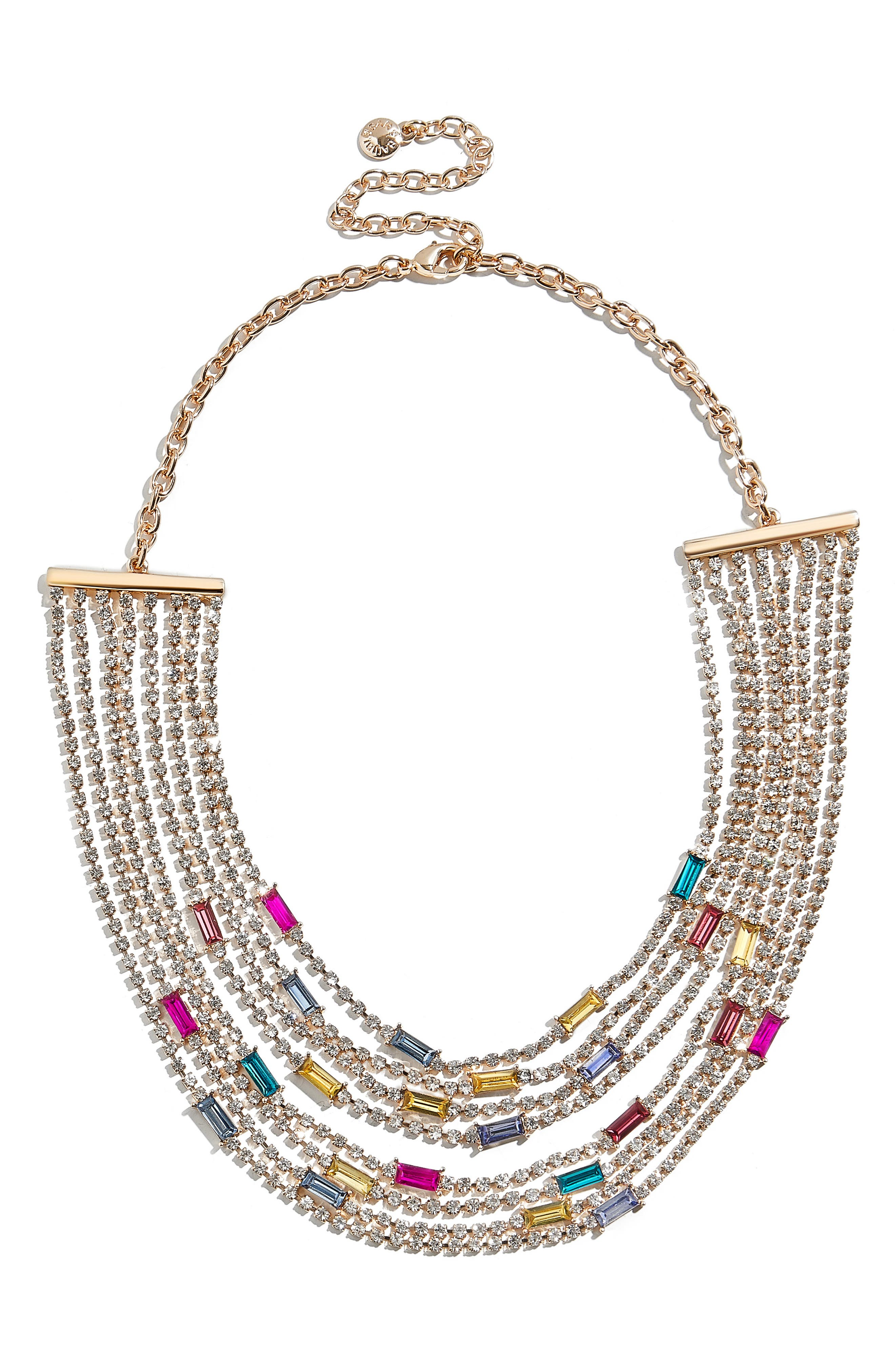 x Micaela Erlanger Bright Lights, Big City Statement Necklace,                         Main,                         color, MULTI/ GOLD