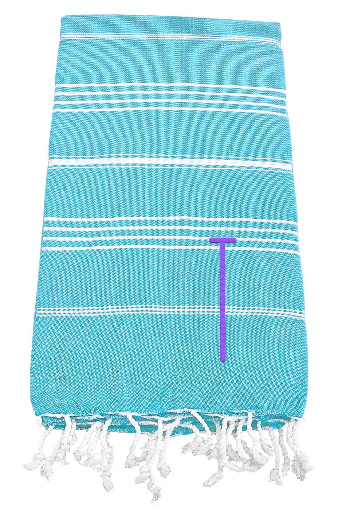 Monogram Turkish Cotton Towel,                             Main thumbnail 102, color,