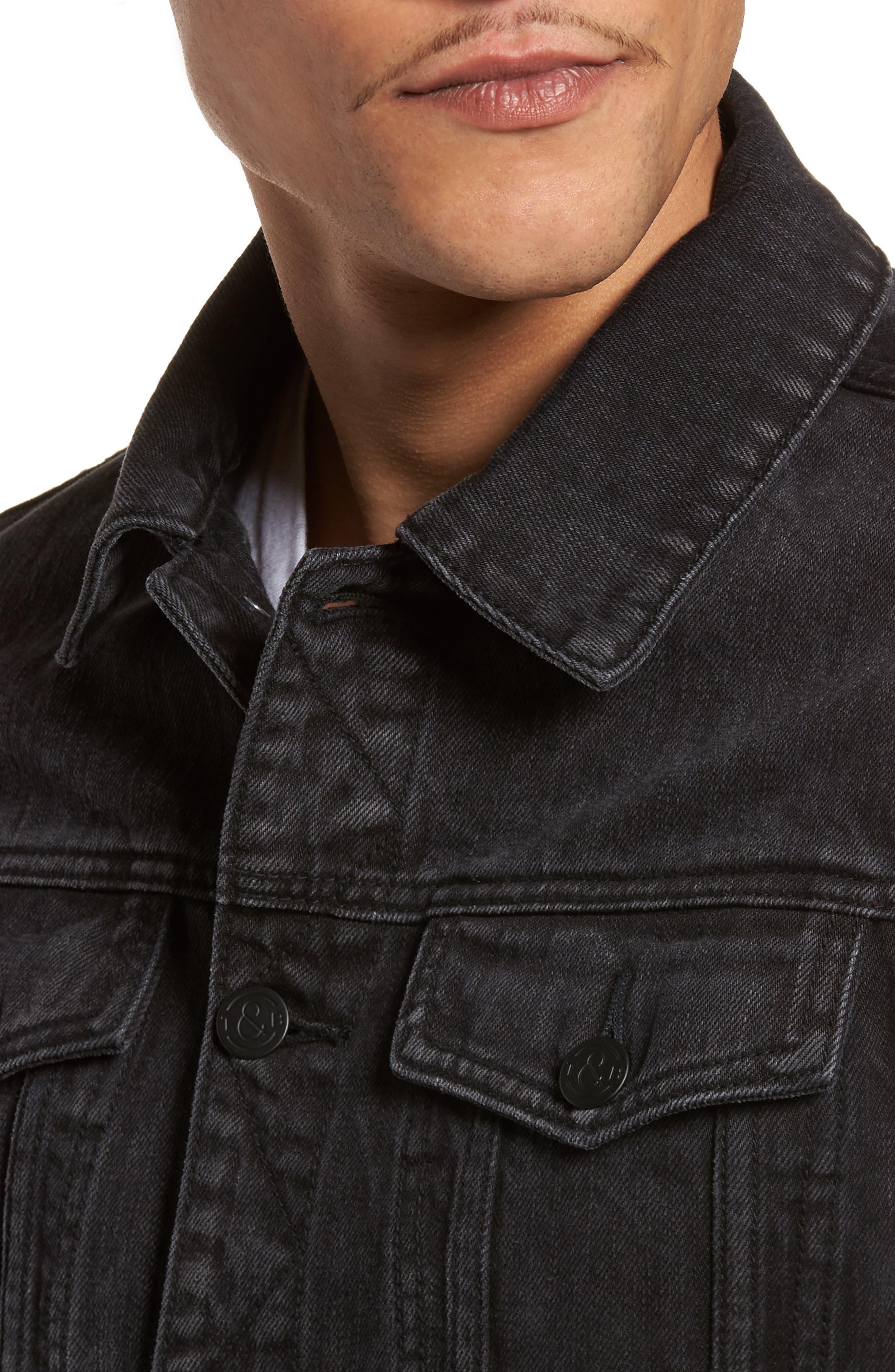 Denim Jacket,                             Alternate thumbnail 4, color,                             001