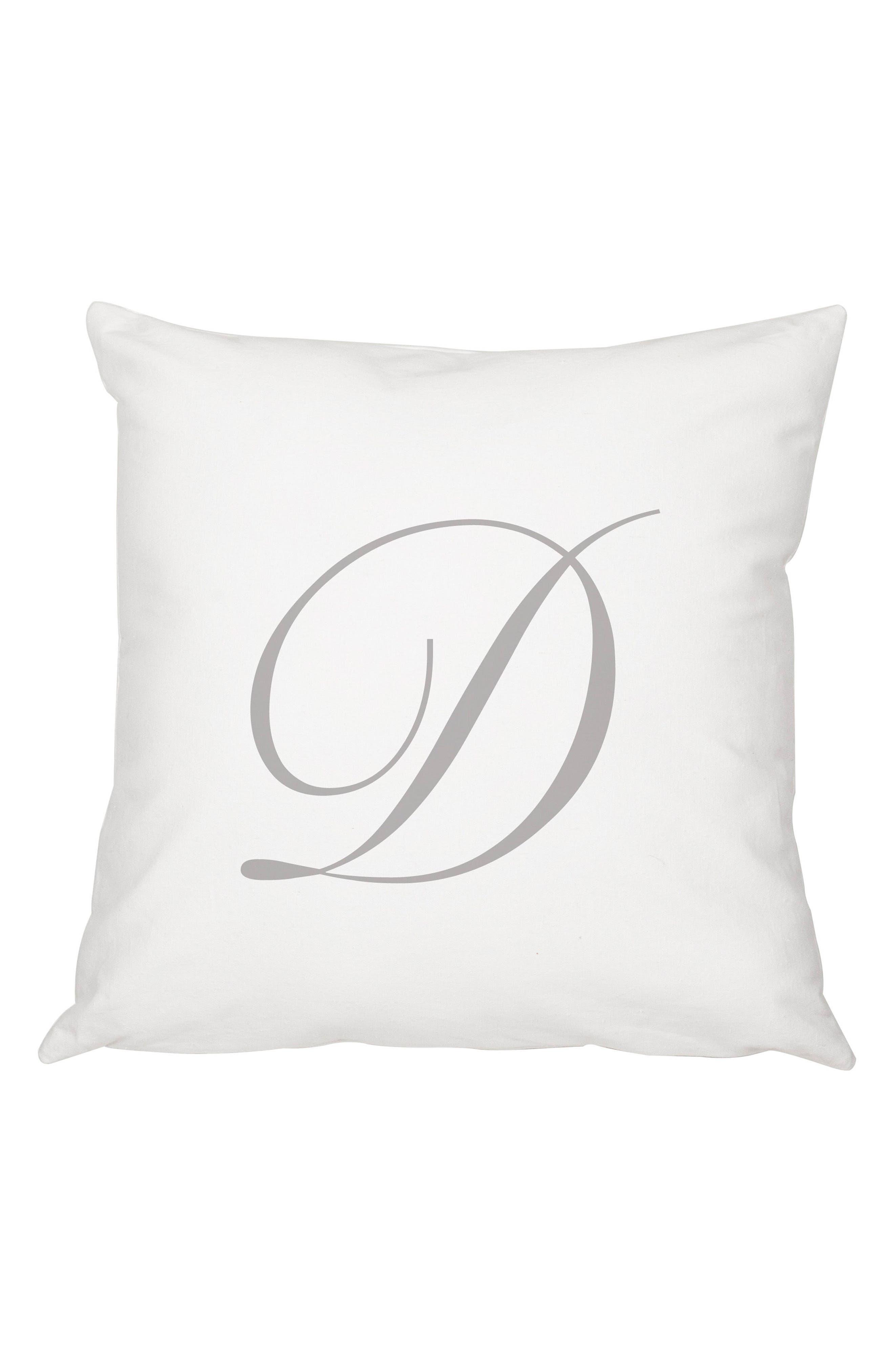 Script Monogram Accent Pillow,                             Main thumbnail 4, color,