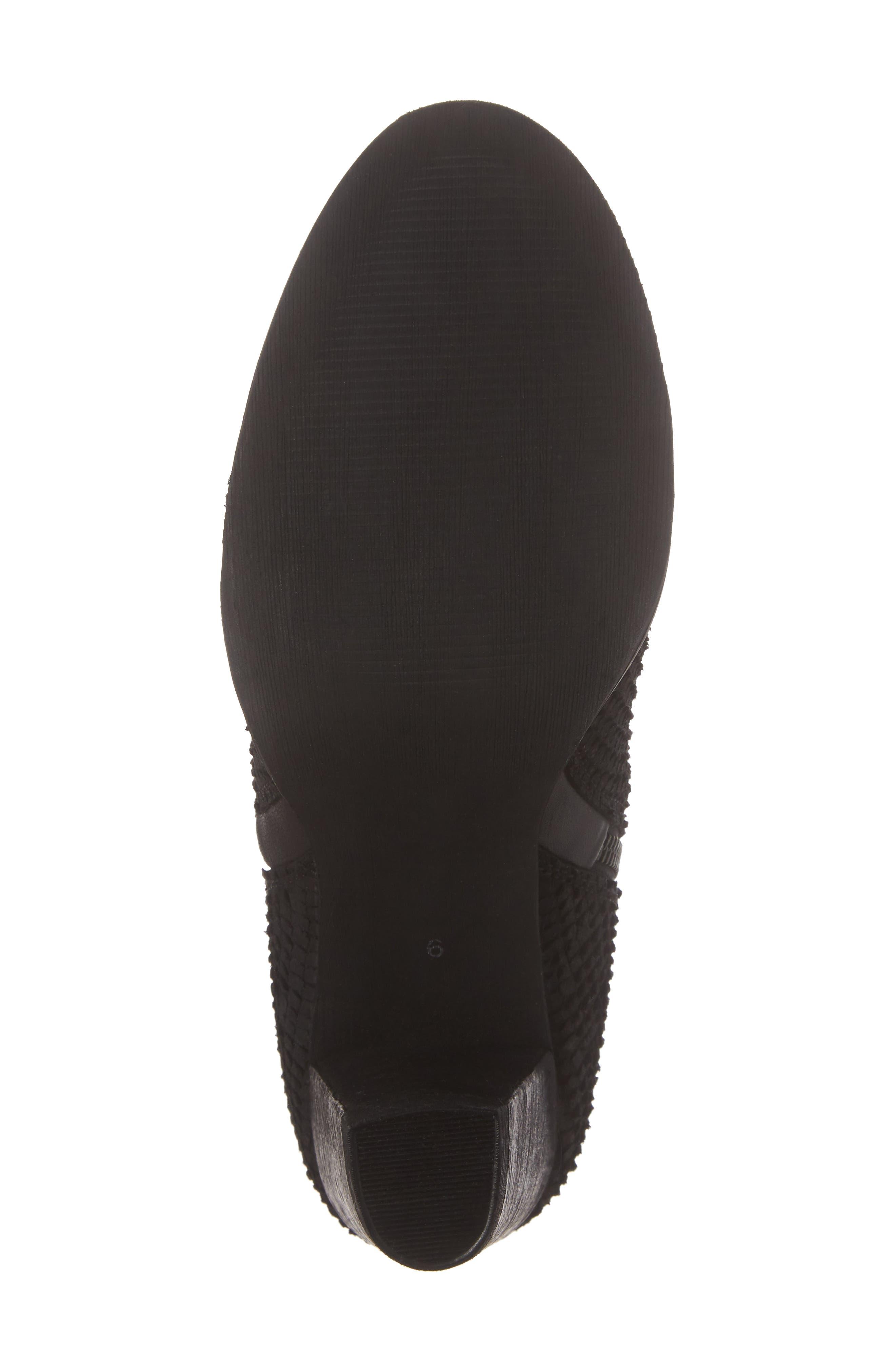 Maddock Block Heel Bootie,                             Alternate thumbnail 6, color,                             BLACK/ BLACK