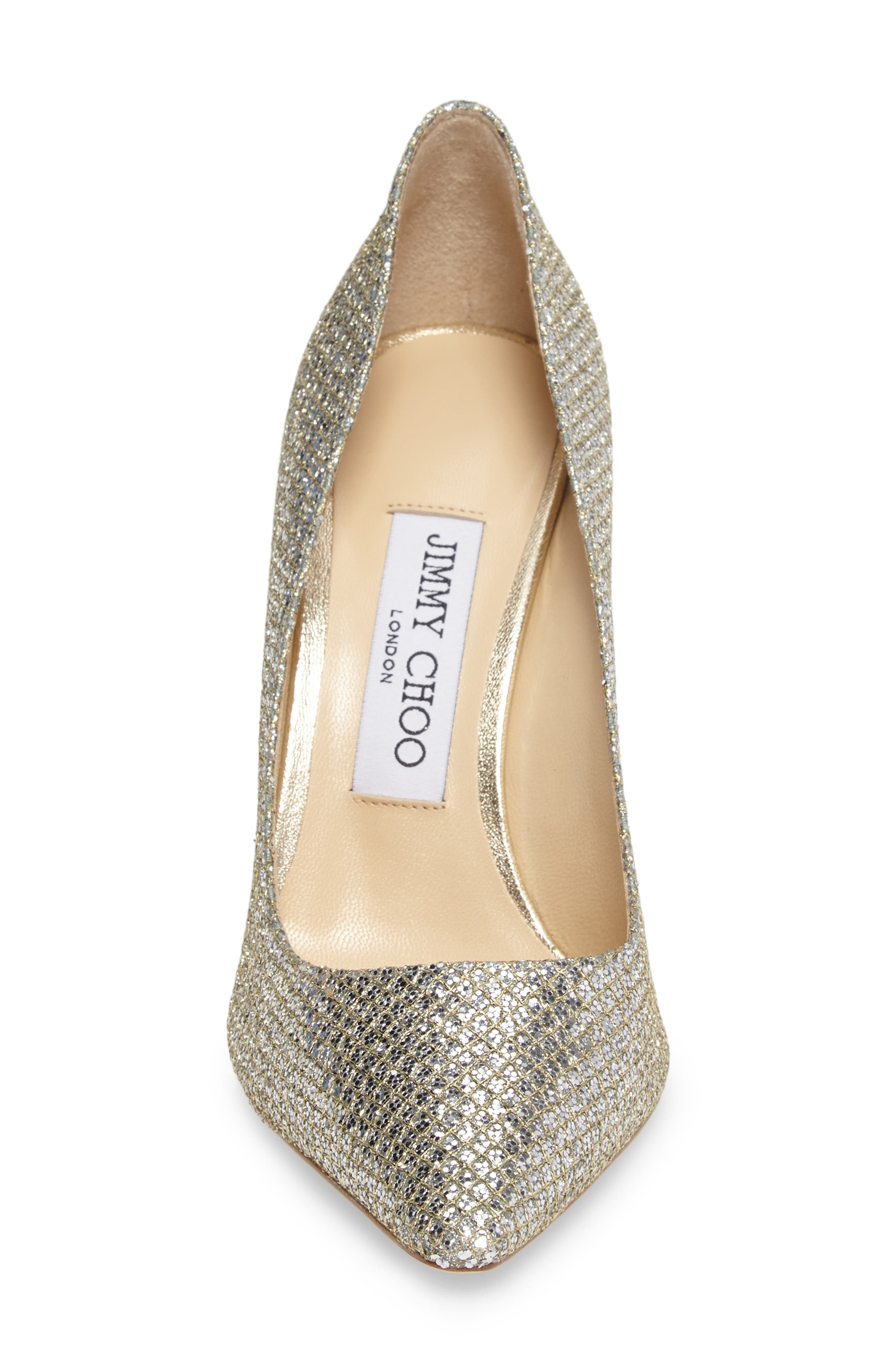 Romy Pointy Toe Pump,                             Alternate thumbnail 4, color,                             CHAMPAGNE