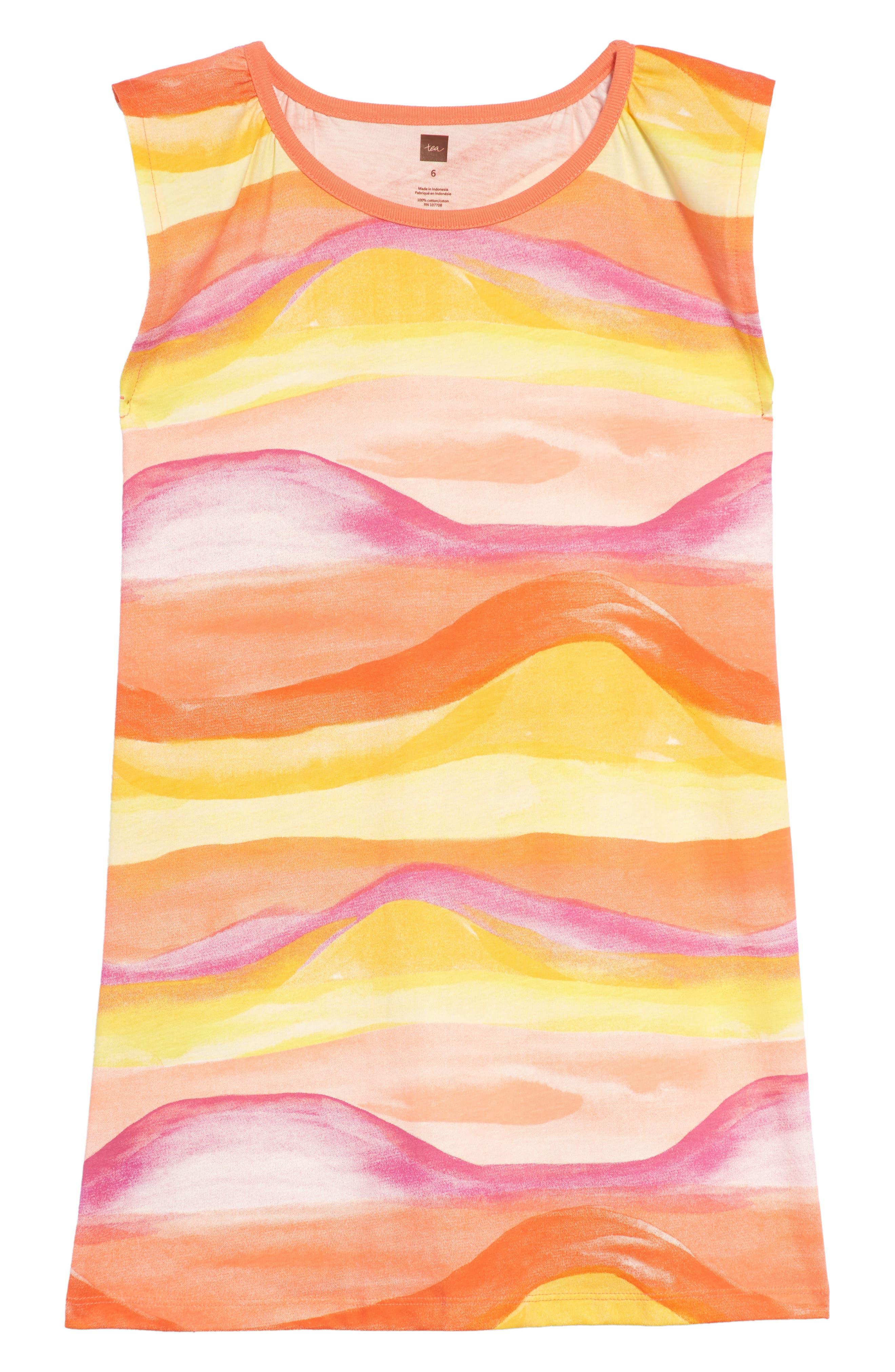 Desert Sunset Graphic Dress,                         Main,                         color, 700