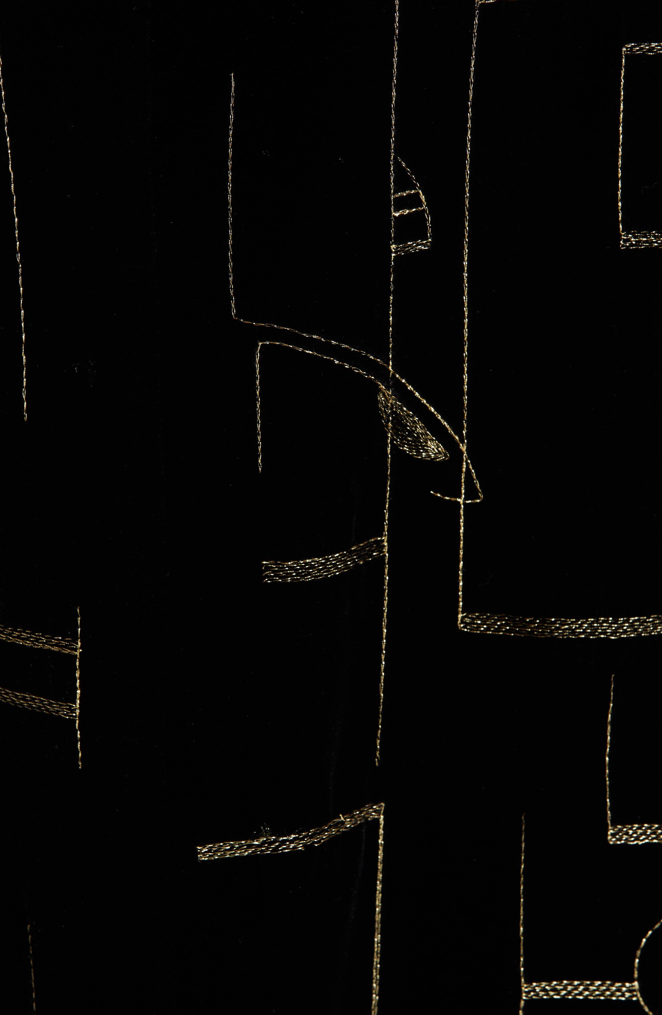 LAFAYETTE 148 NEW YORK,                             Cressida Embellished Velvet Dress,                             Alternate thumbnail 6, color,                             BLACK MULTI