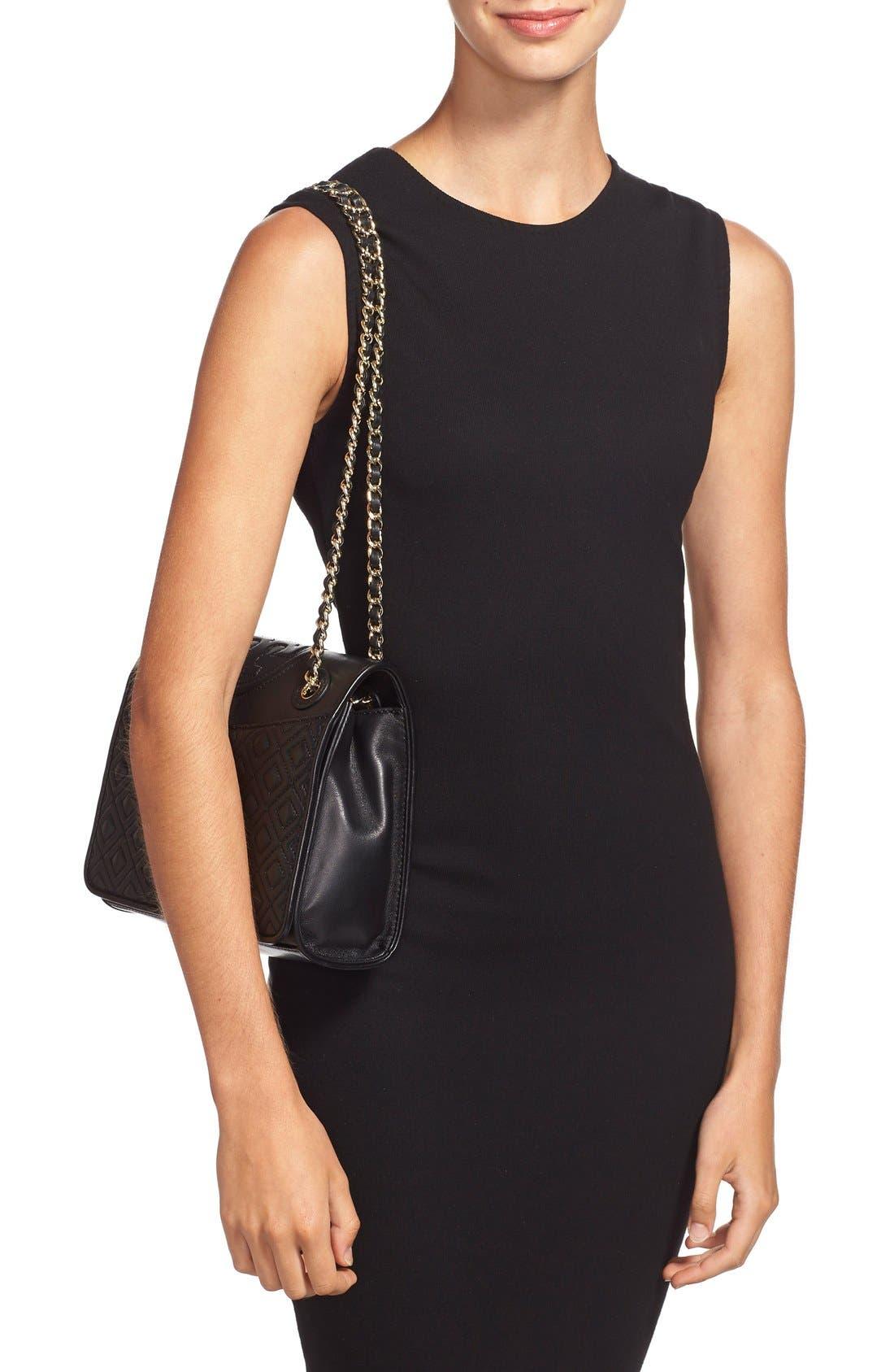'Medium Fleming' Leather Shoulder Bag,                             Alternate thumbnail 6, color,                             001