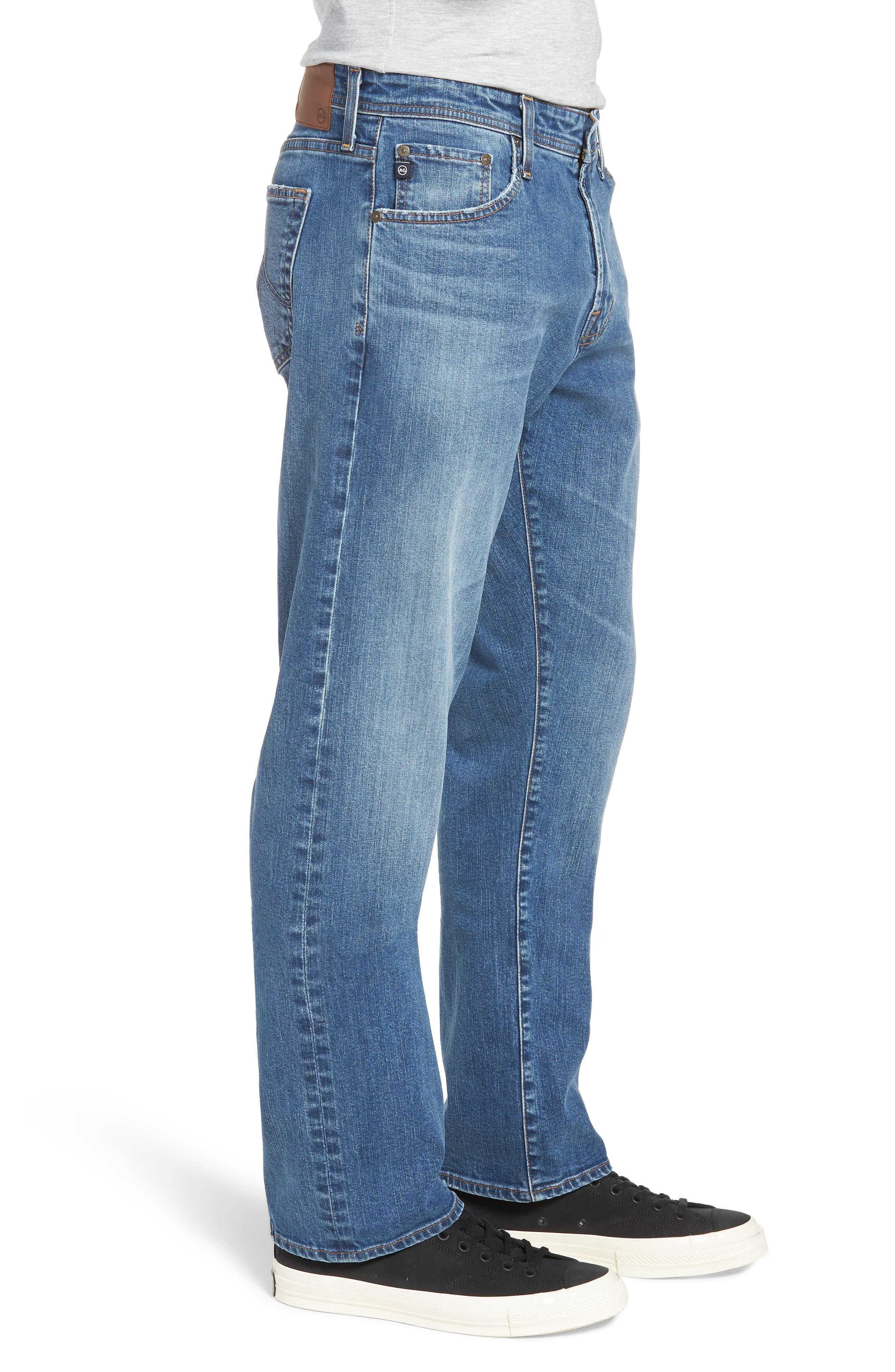 Ives Straight Leg Jeans,                             Alternate thumbnail 3, color,                             485