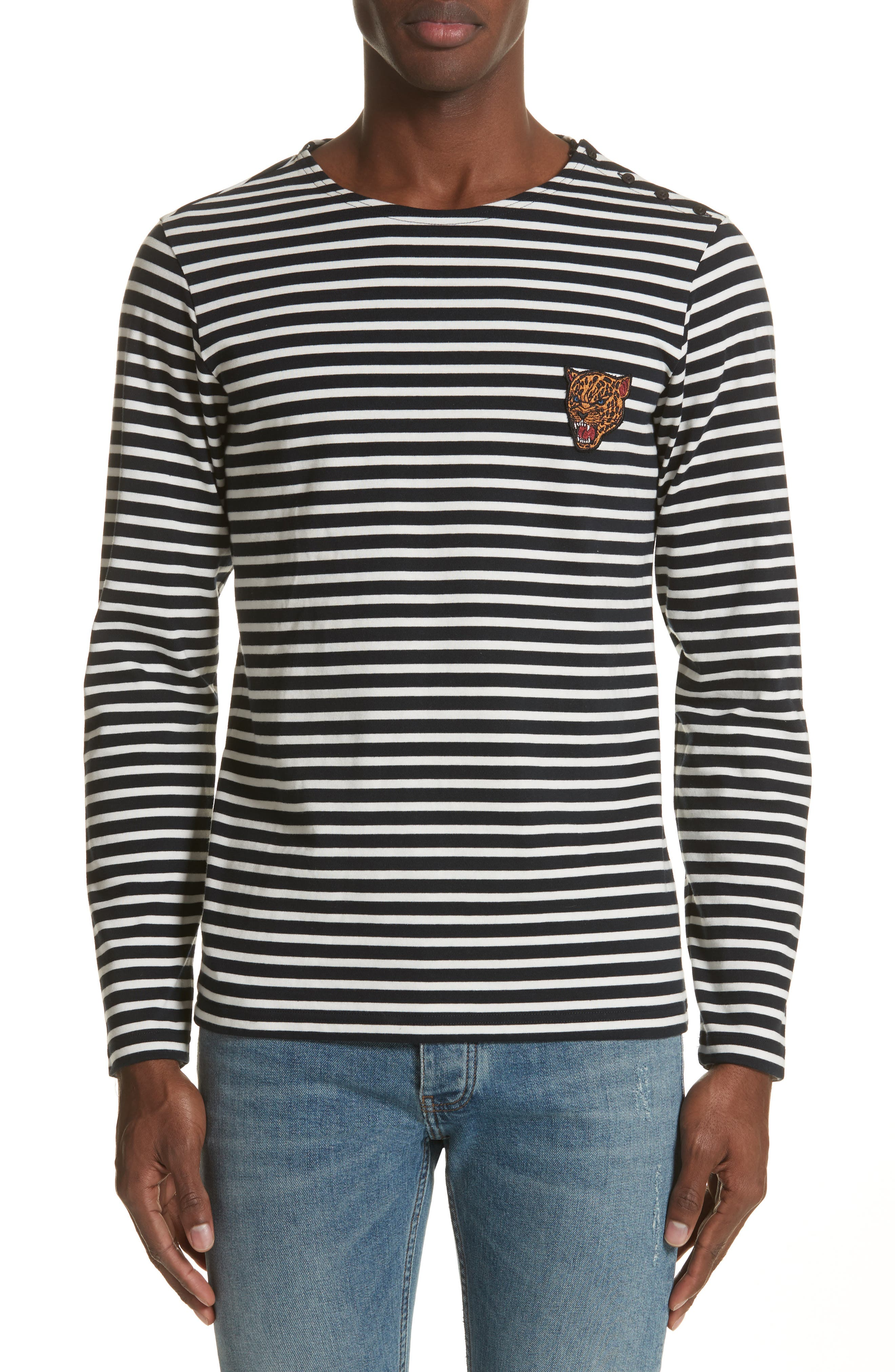 Stripe Long Sleeve T-Shirt,                             Main thumbnail 1, color,