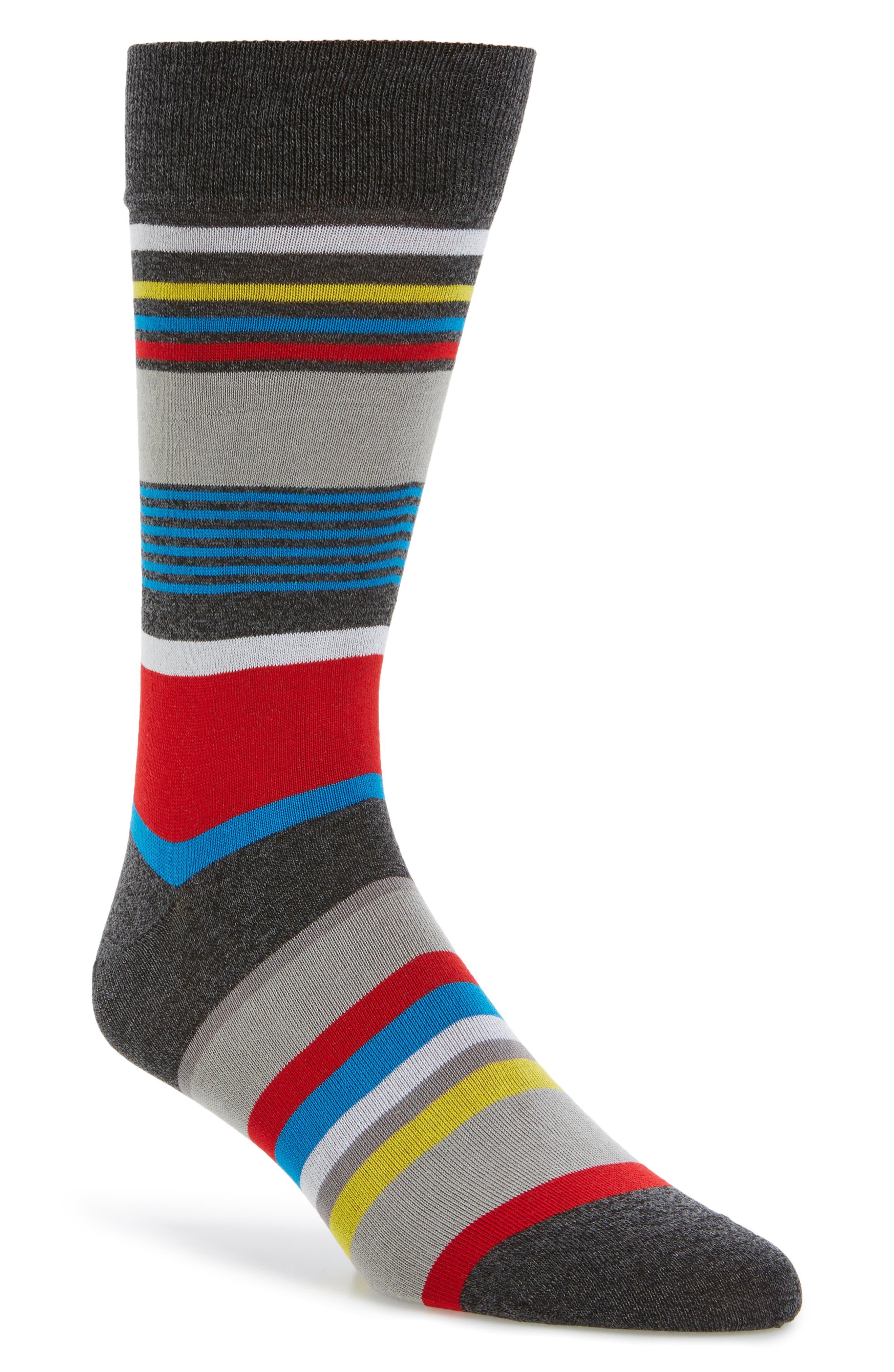 Stripe Socks,                             Main thumbnail 1, color,                             020
