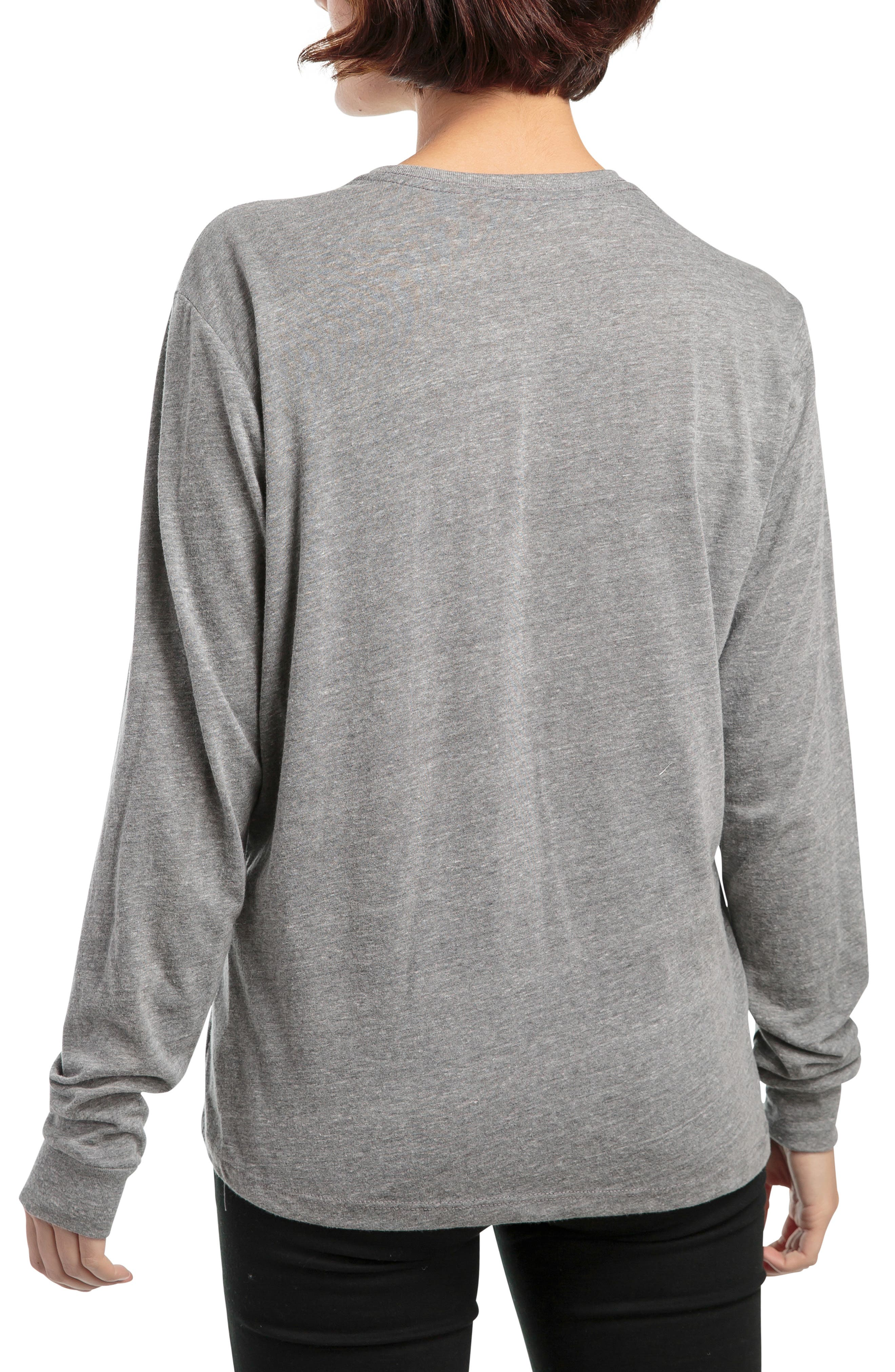 Long Sleeve Pocket Tee,                             Alternate thumbnail 2, color,                             HEATHER GREY