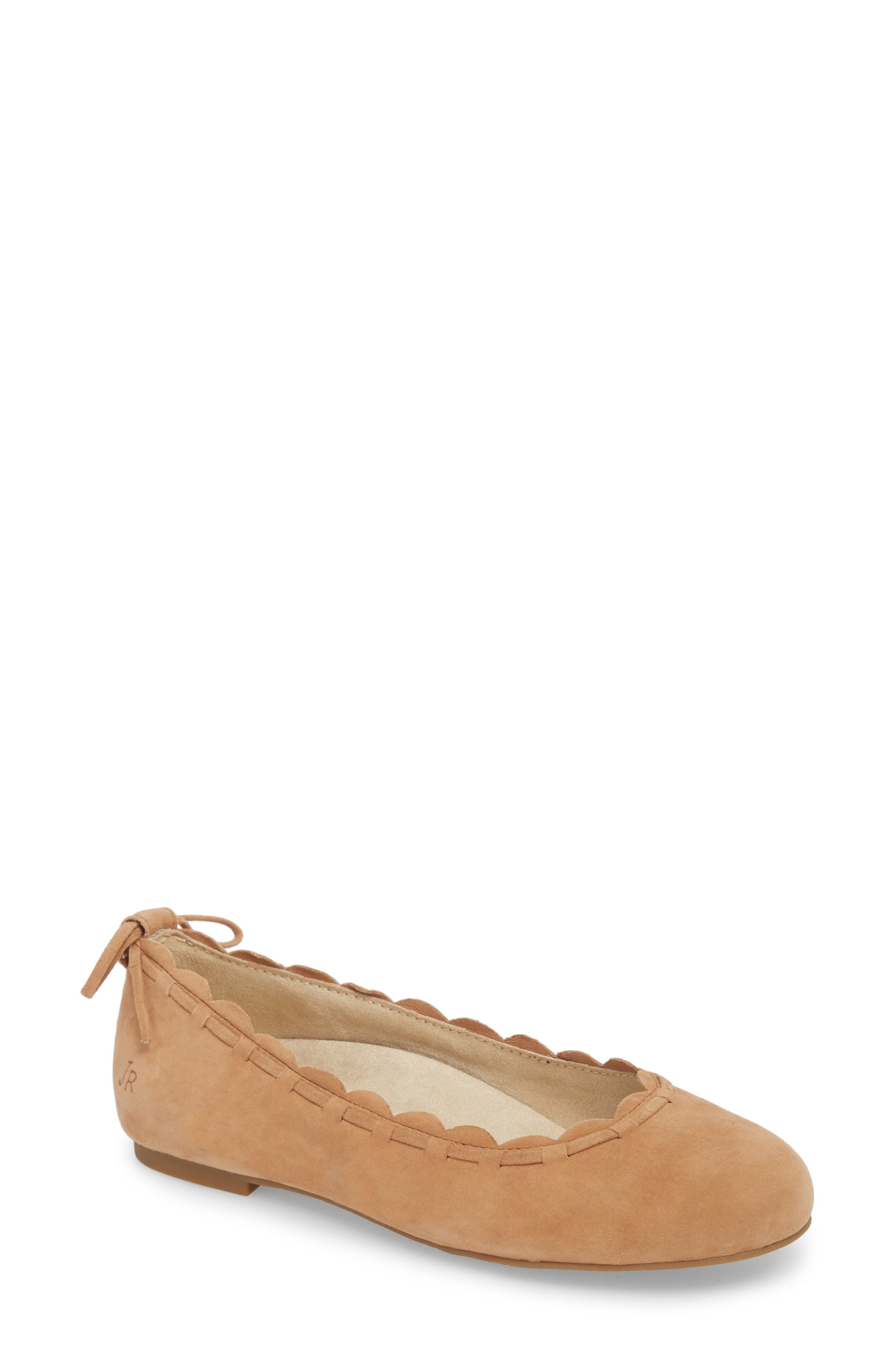 Jack Rogers Lucie Ii Scalloped Flat, Brown