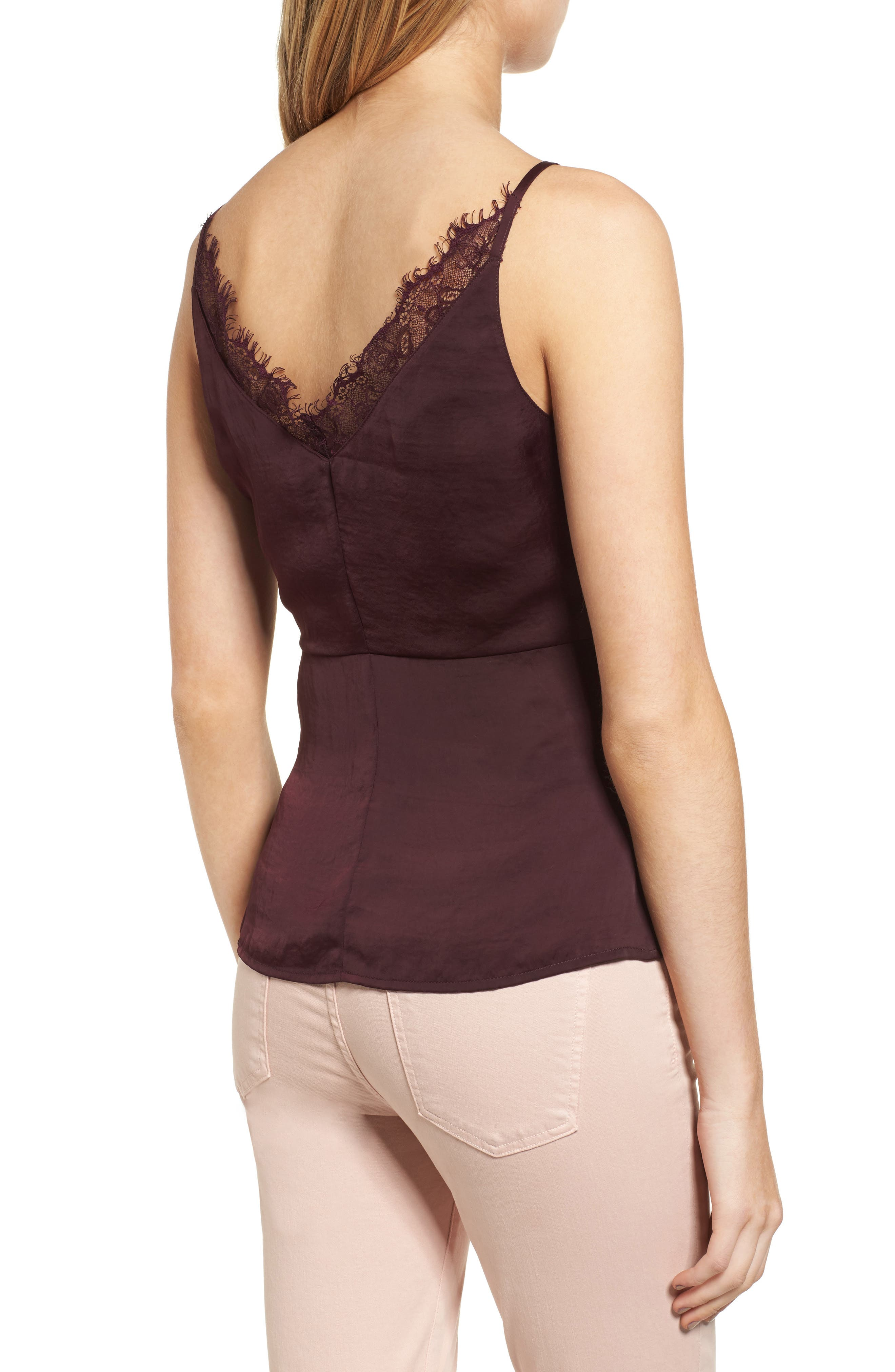 Satin Wrap Camisole,                             Alternate thumbnail 4, color,